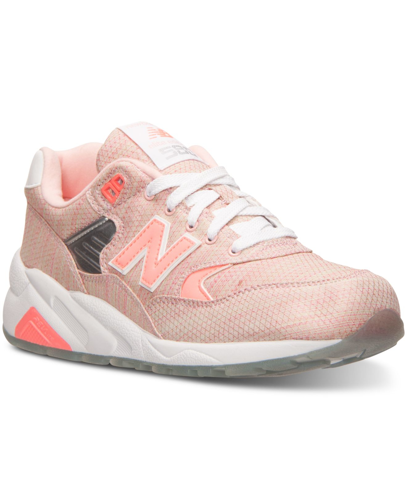 finest selection 9f7f0 c8f73 New Balance Women s 580 Running Sneakers From Finish Line in Pink - Lyst