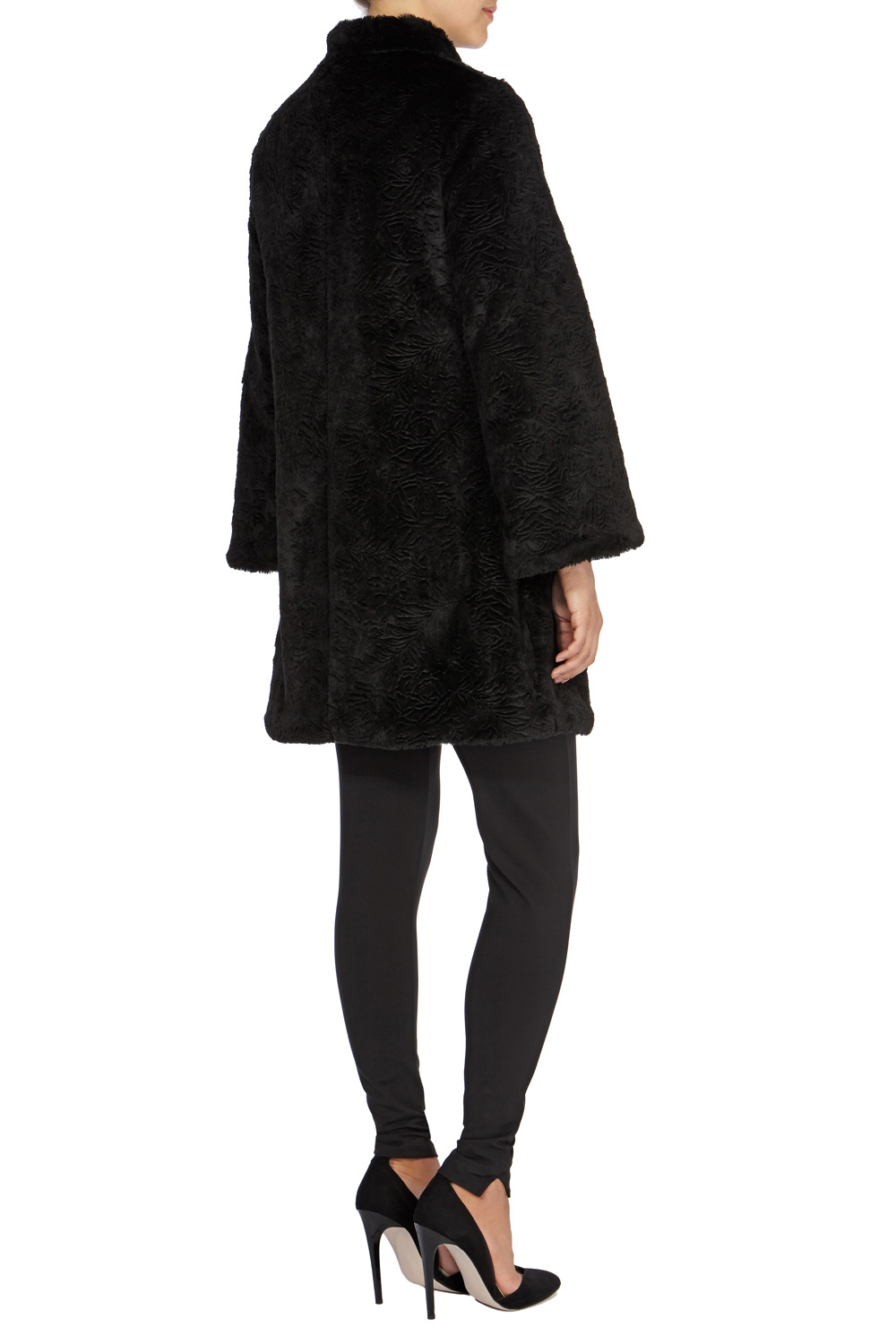 Coast Ottawa Faux Fur Coat in Black | Lyst