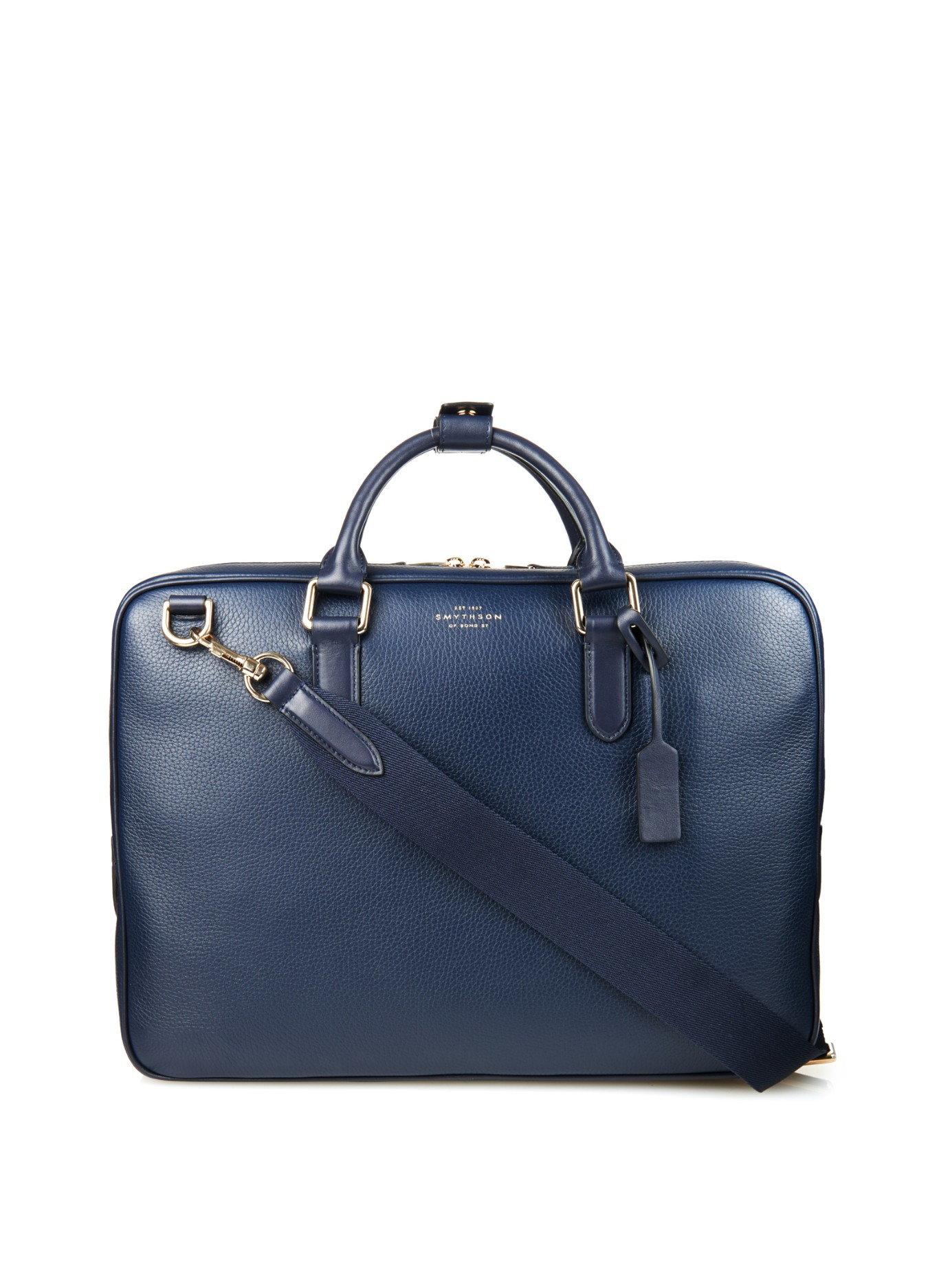 Well-known Lyst - Smythson Leather Briefcase in Blue for Men RZ15