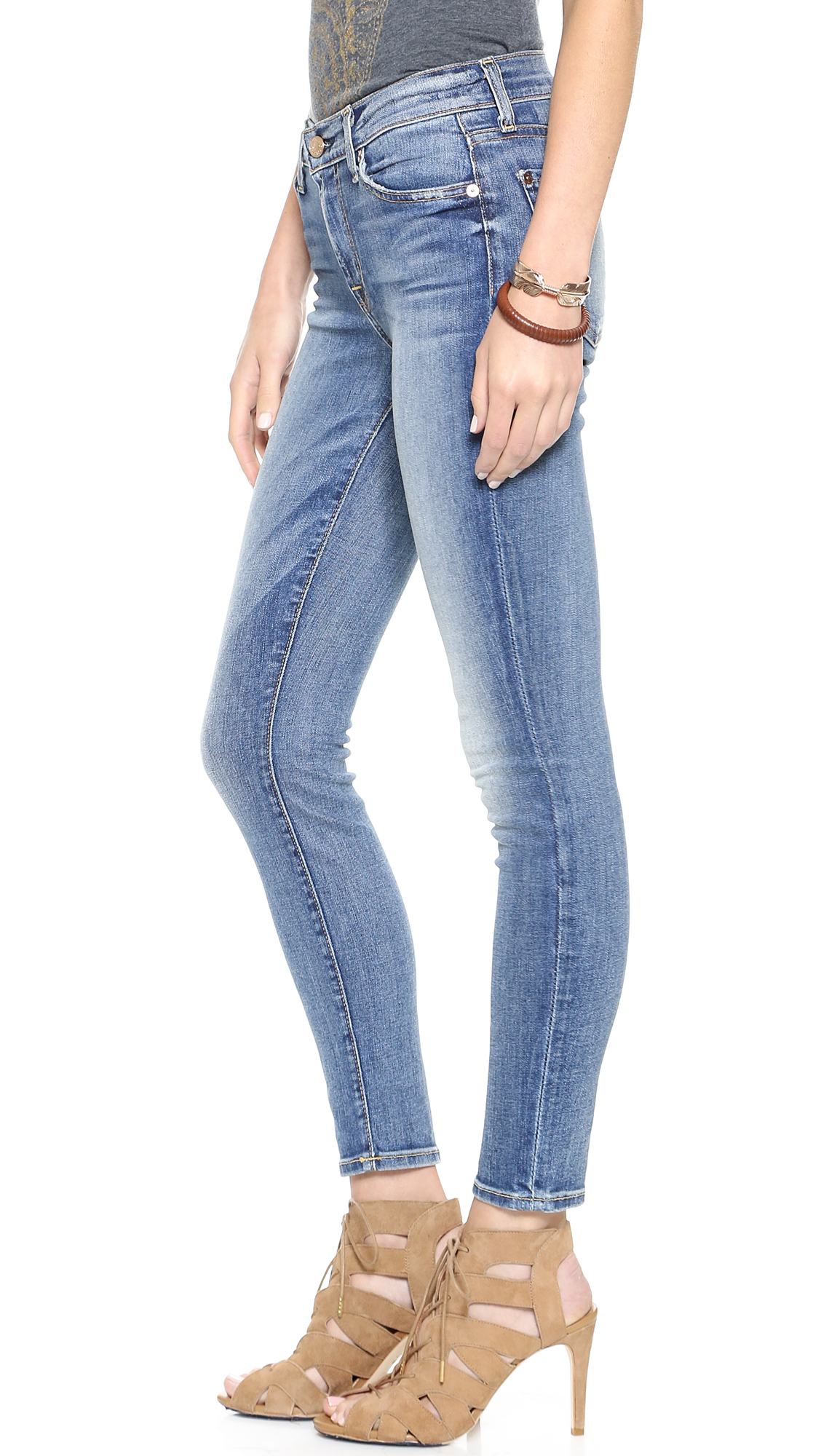 7 for all mankind The Ankle Skinny Jeans - Absolute Heritage in ...