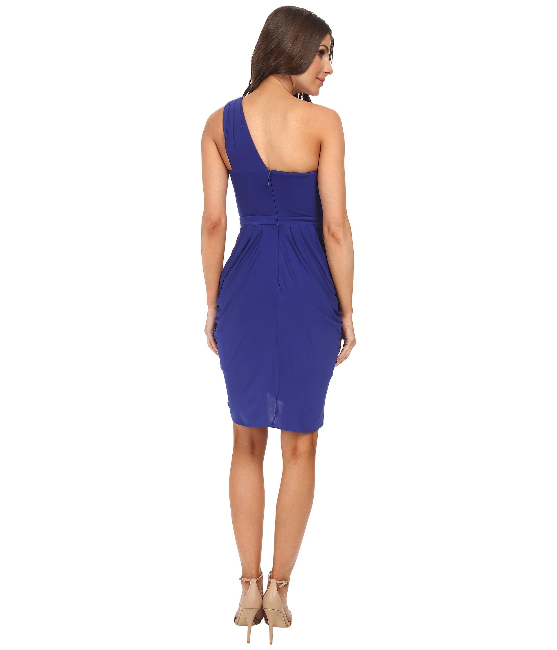fb3206854ae BCBGMAXAZRIA Julieta One Shoulder Dress in Blue - Lyst