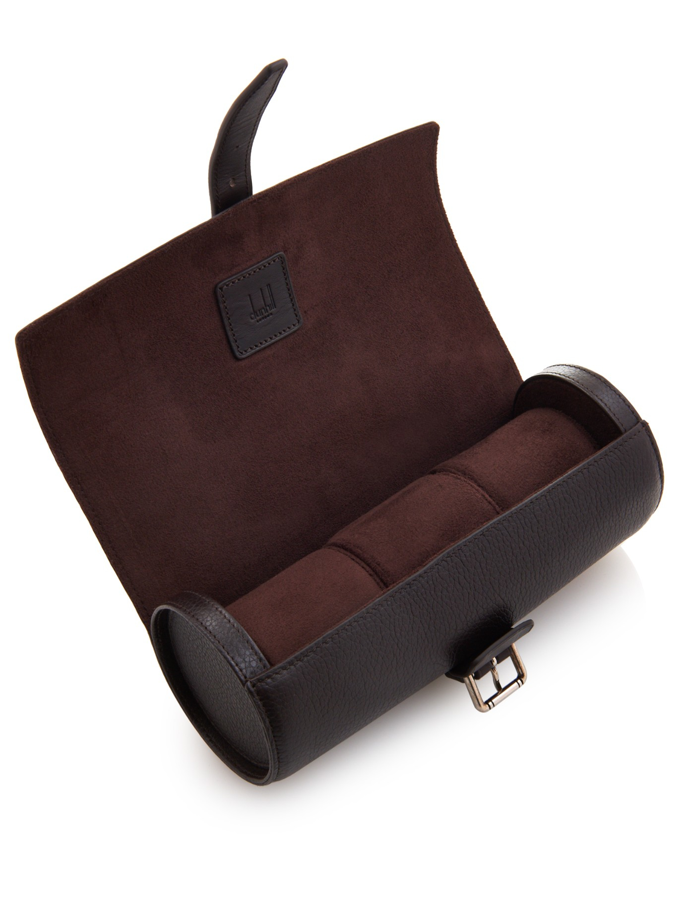 dunhill boston travel watch case in brown for men lyst gallery
