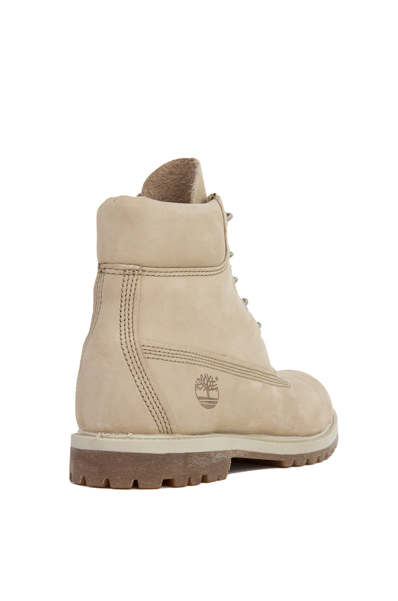 Timberland 6 Inch Premium Waterproof Boots In Off White
