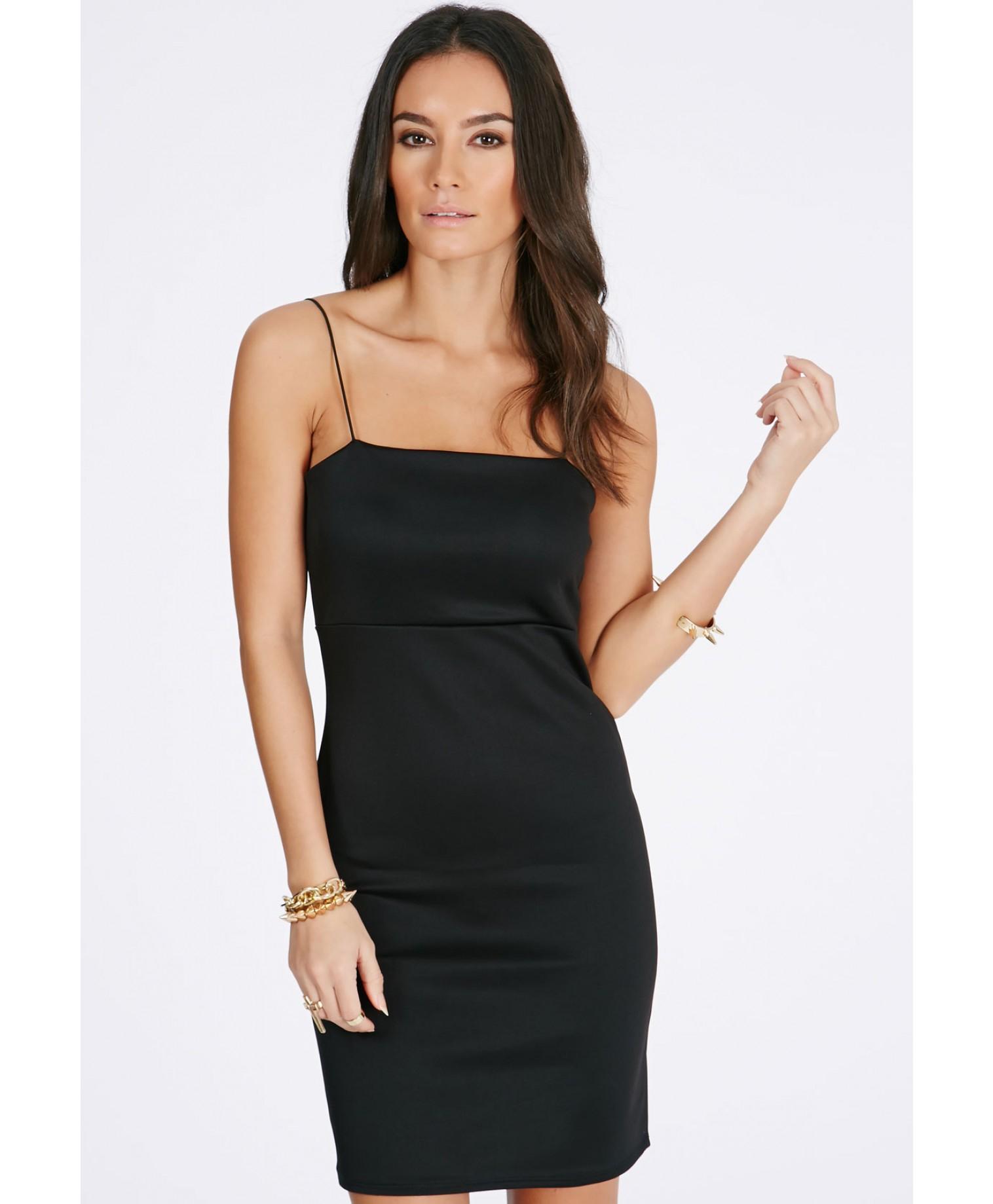 392c451df5e79 Missguided Clauda Bodycon Cami Slip Dress In Black in Black - Lyst