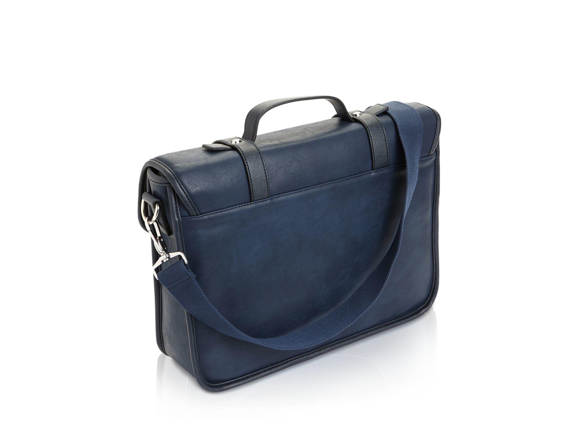 1df5f84698e Brand new Lyst - Ted Baker Honkar Faux Leather Messenger Bag in Blue for Men  XM75