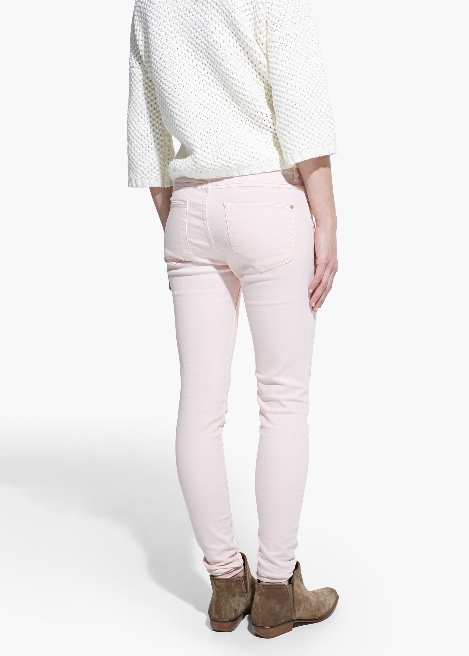 Mango Skinny Paty Jeans in Pink