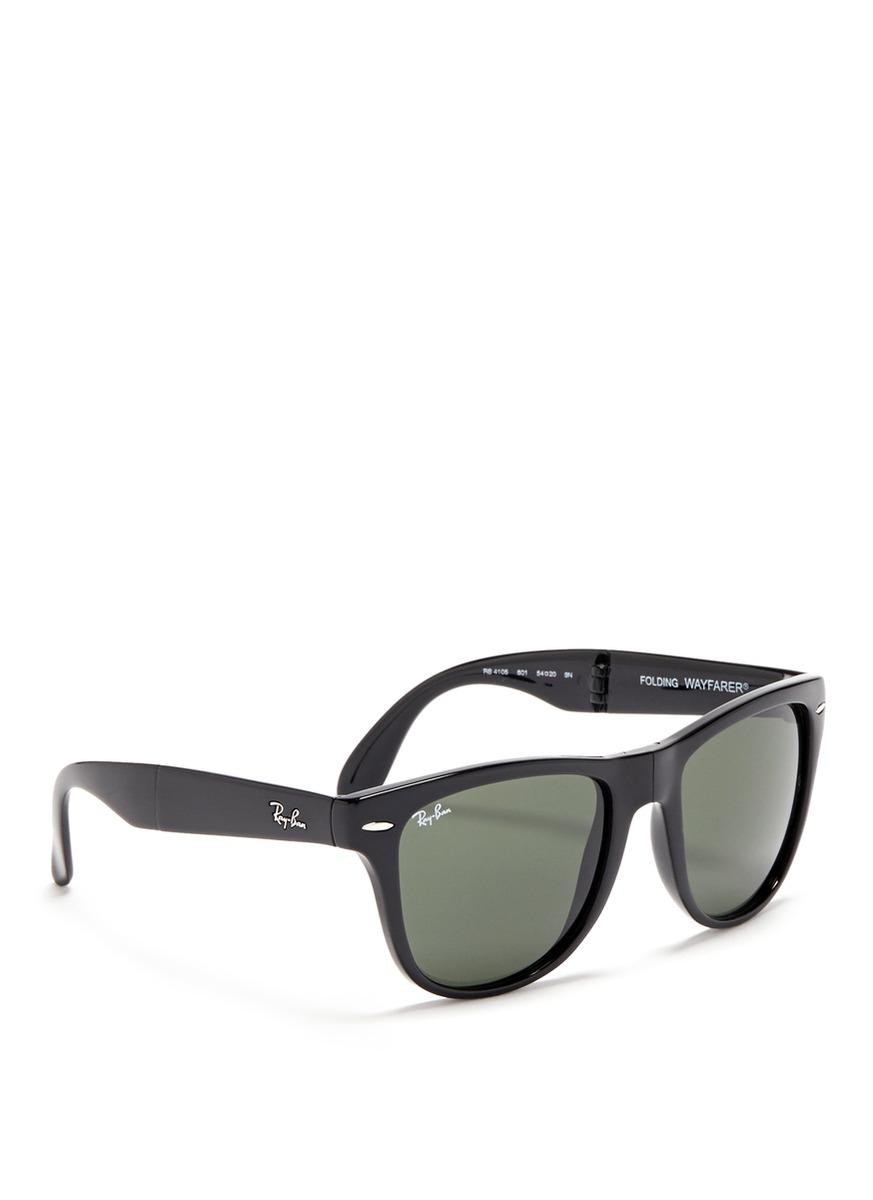 2ba44585de Ray-ban   39 wayfarer Folding Classic  39  Acetate Sunglasses in