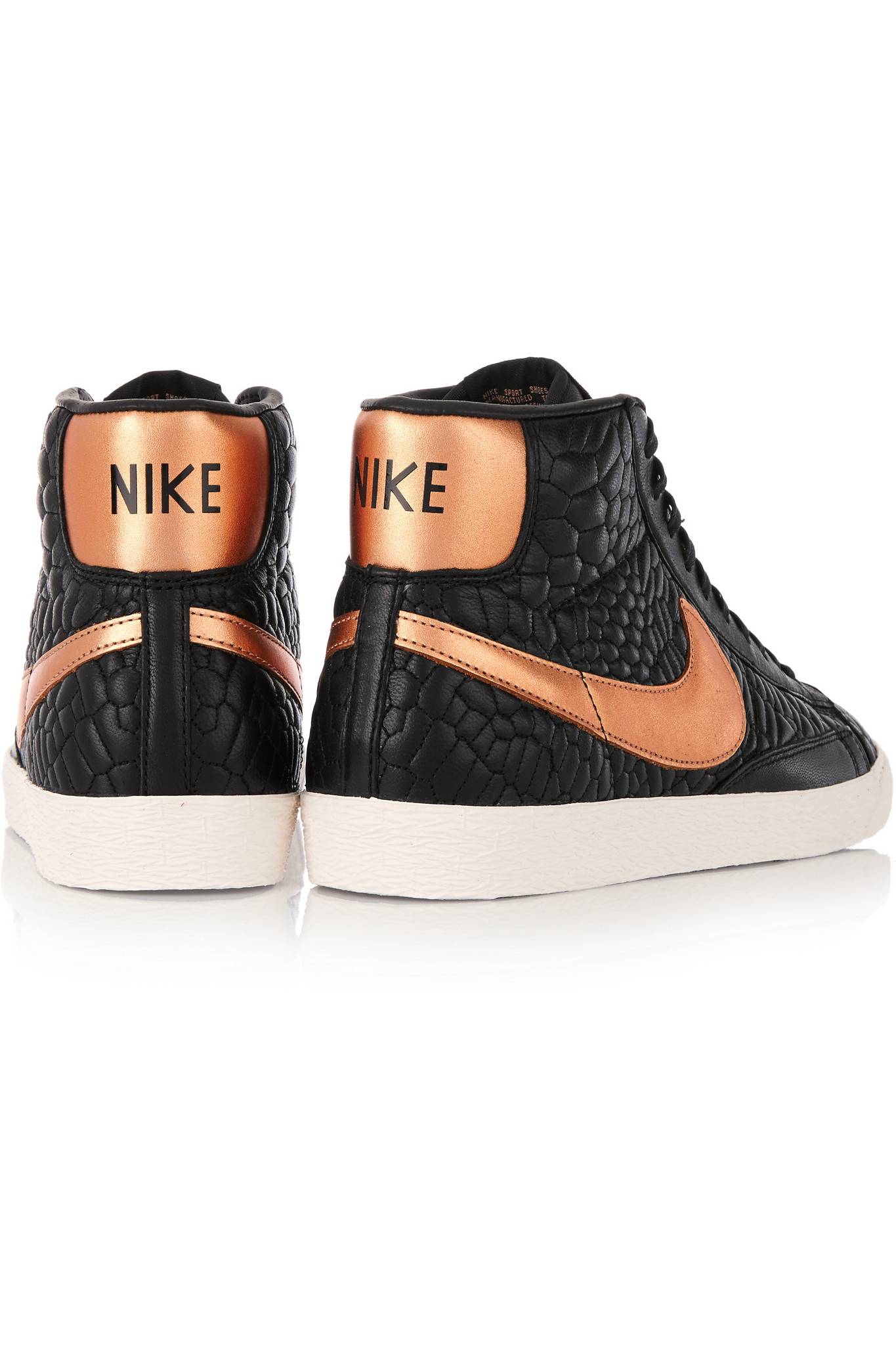 nike air force - Nike - Blazer Croc-effect Leather High-top Sneakers - Black in ...