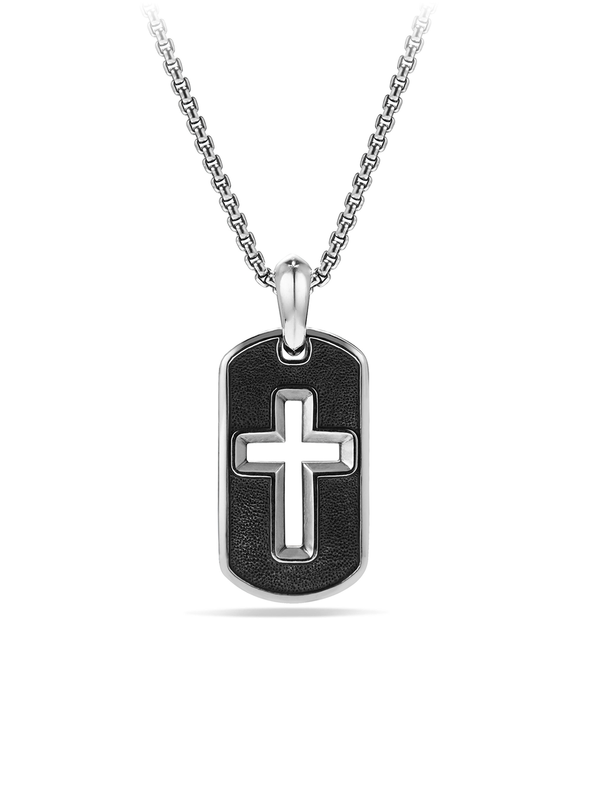 David yurman Cross Tag Necklace in Metallic for Men