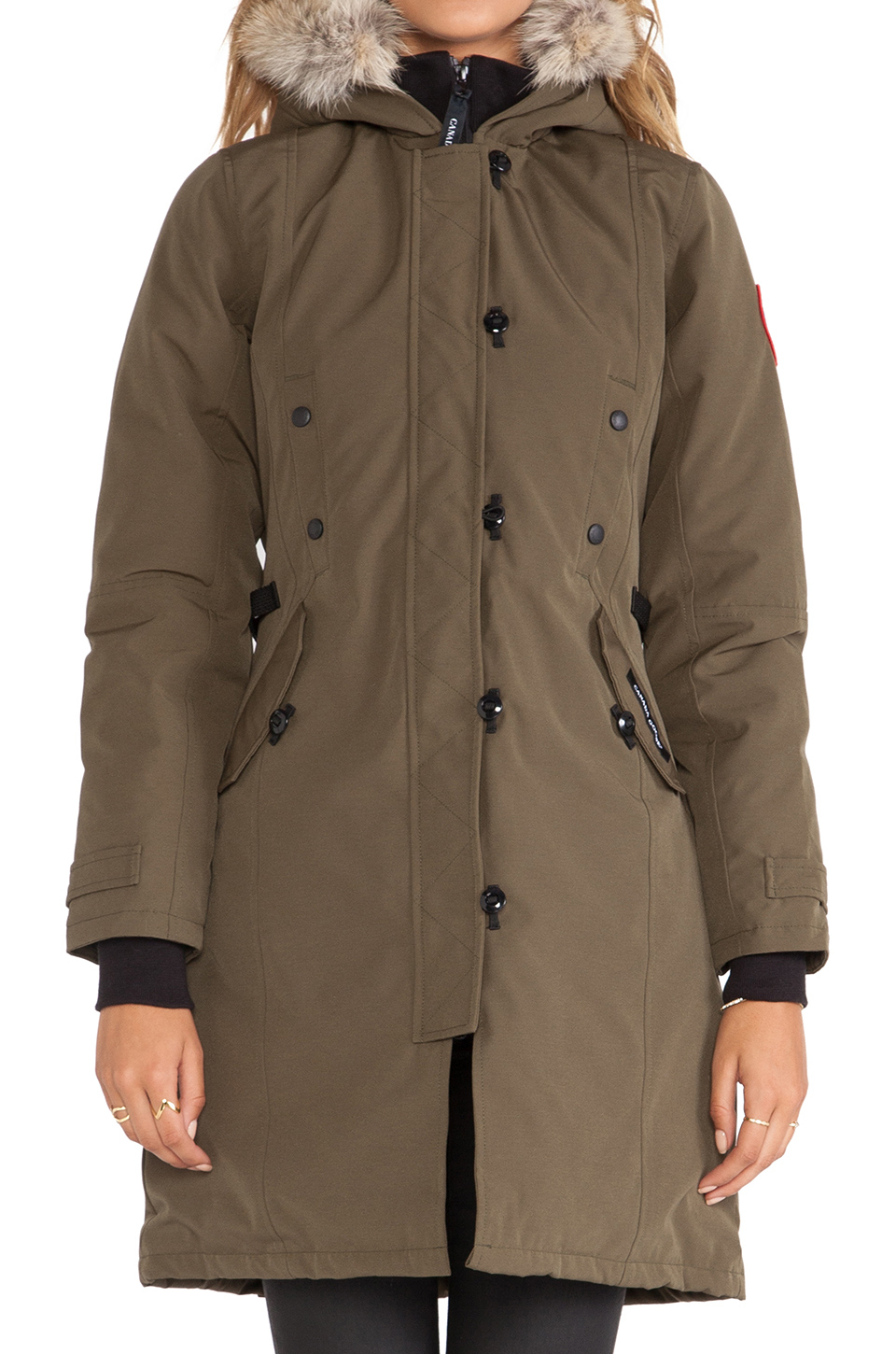 Canada Goose toronto replica discounts - Canada goose Kensington Parka With Coyote Fur Trim in Green ...