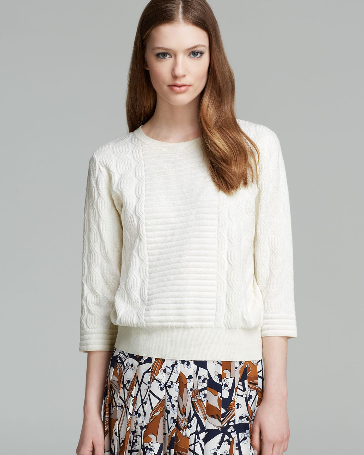 marc by marc jacobs sweater lucinda pullover in white lyst. Black Bedroom Furniture Sets. Home Design Ideas