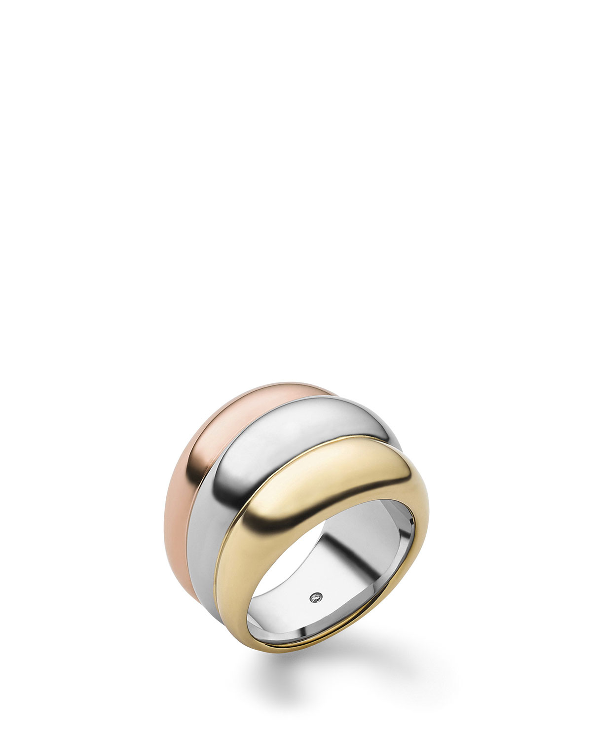 michael kors tricolor stacked ring in gold tri tone lyst. Black Bedroom Furniture Sets. Home Design Ideas