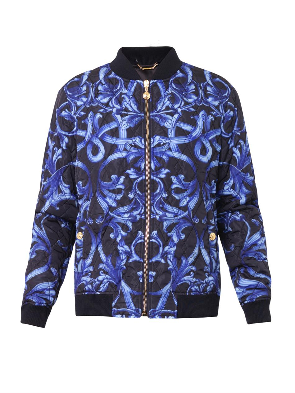 Lyst Versace Lenticular Foulard Quilted Bomber Jacket
