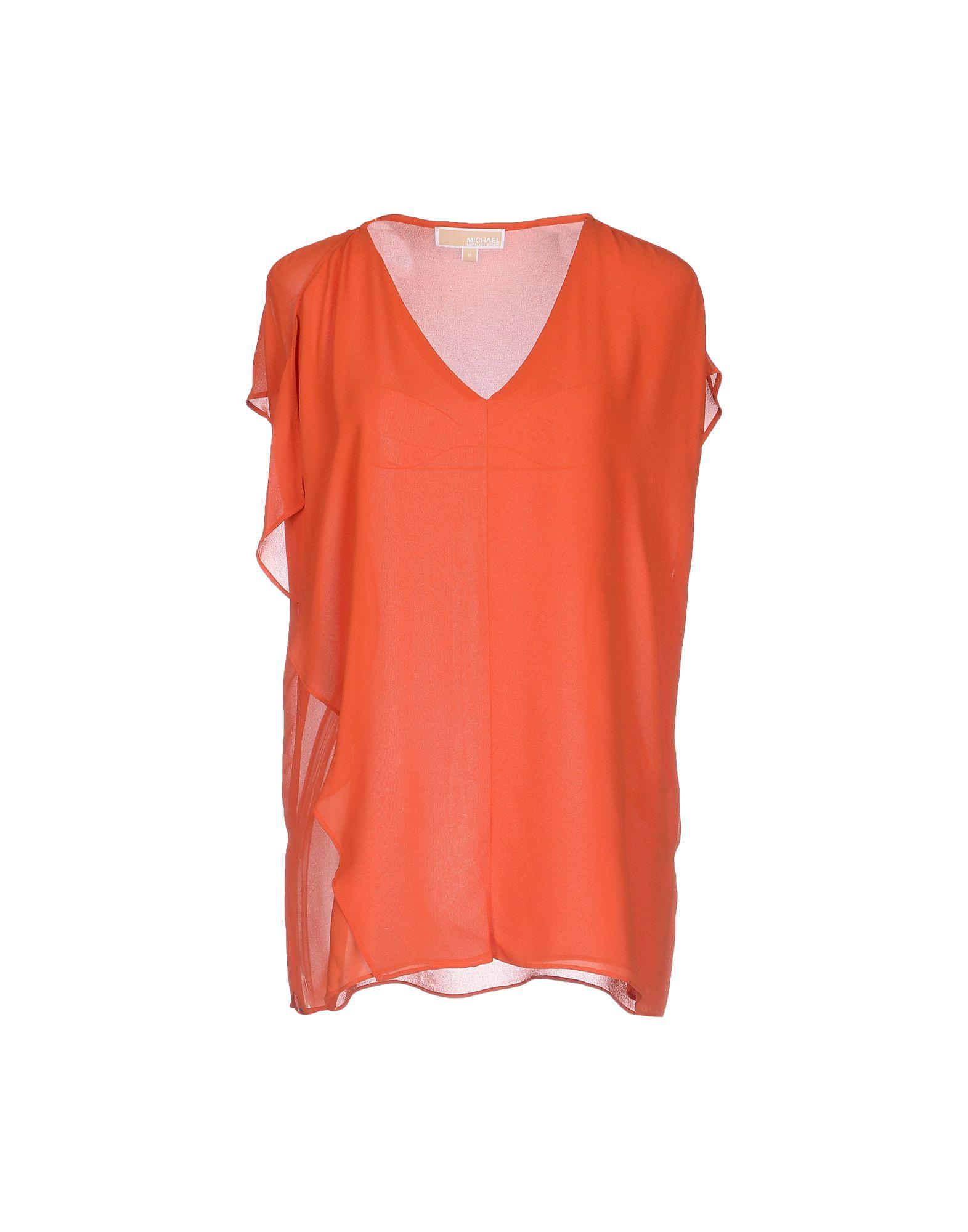 michael michael kors blouse in orange lyst. Black Bedroom Furniture Sets. Home Design Ideas