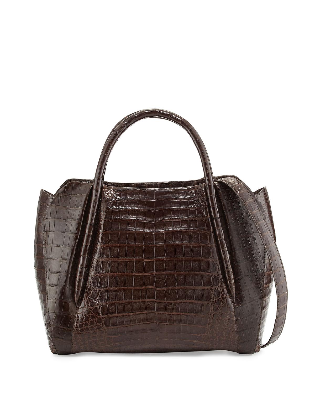 Lyst nancy gonzalez medium crocodile horseshoe tote bag for Nancy gonzalez crocodile tote