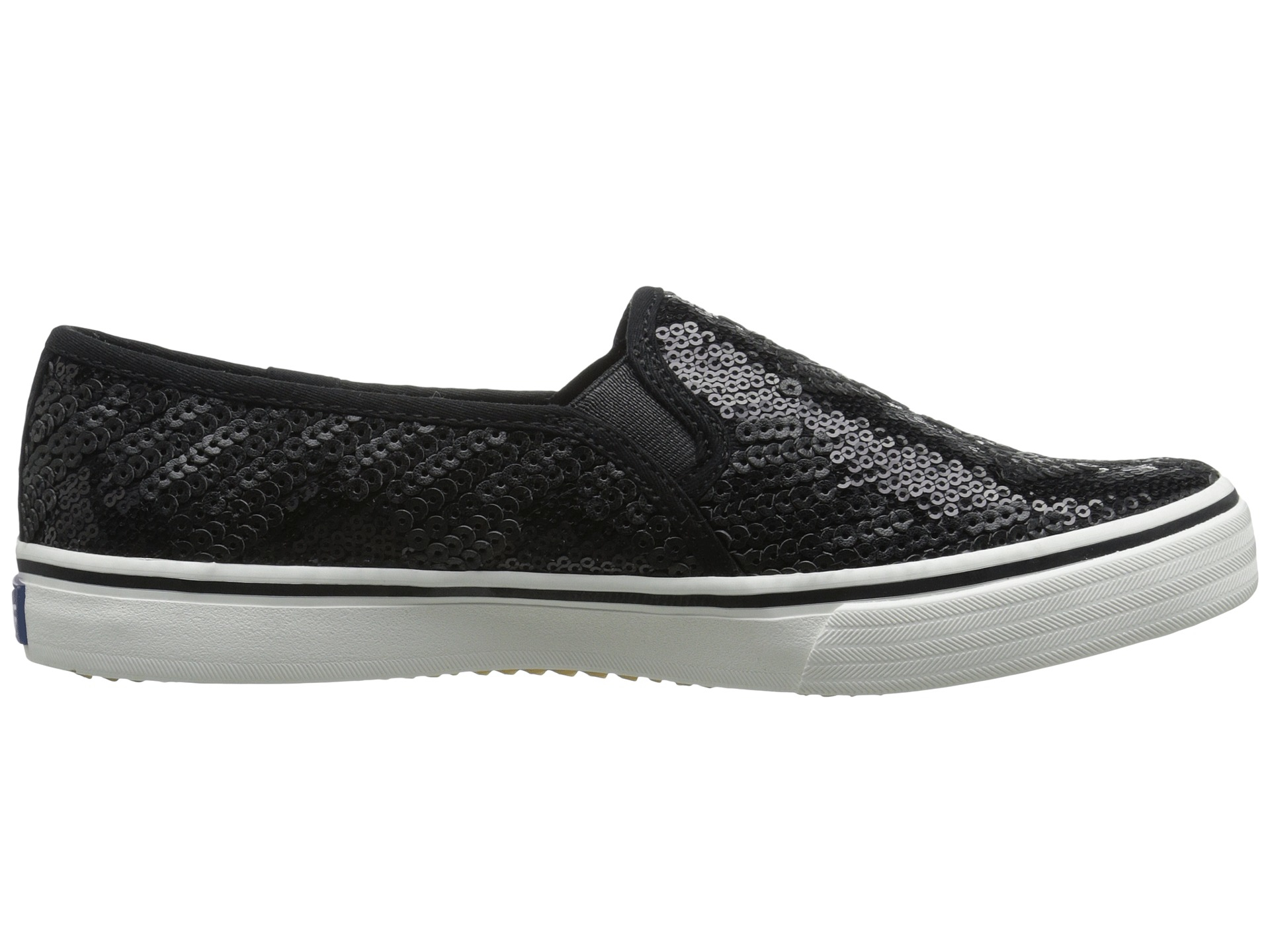 black slip on keds
