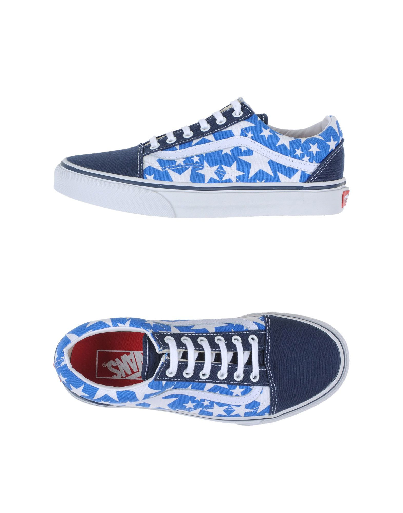 vans low tops trainers in blue lyst. Black Bedroom Furniture Sets. Home Design Ideas