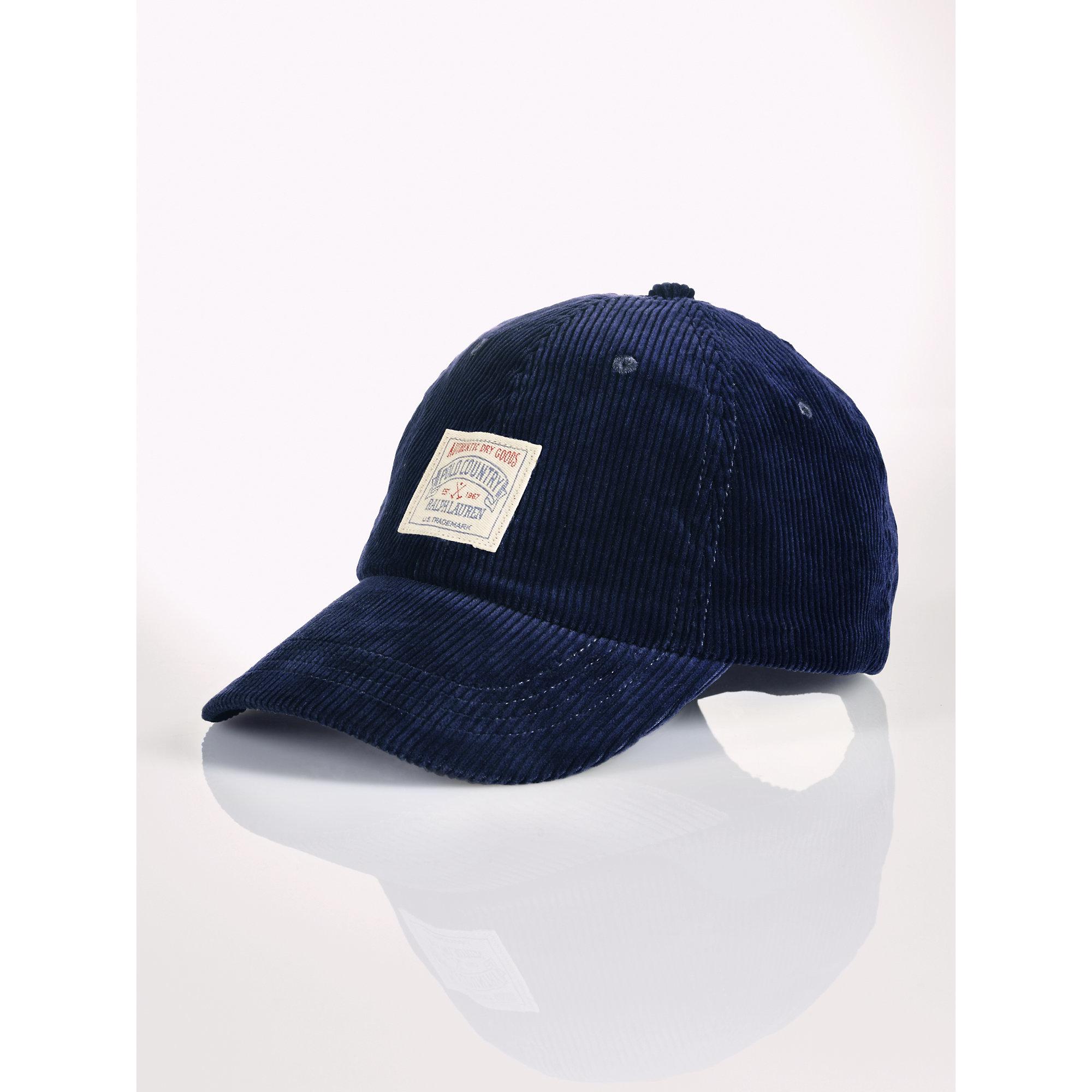 e18f3f3534bb5 Polo Ralph Lauren Corduroy Hat in Blue for Men - Lyst