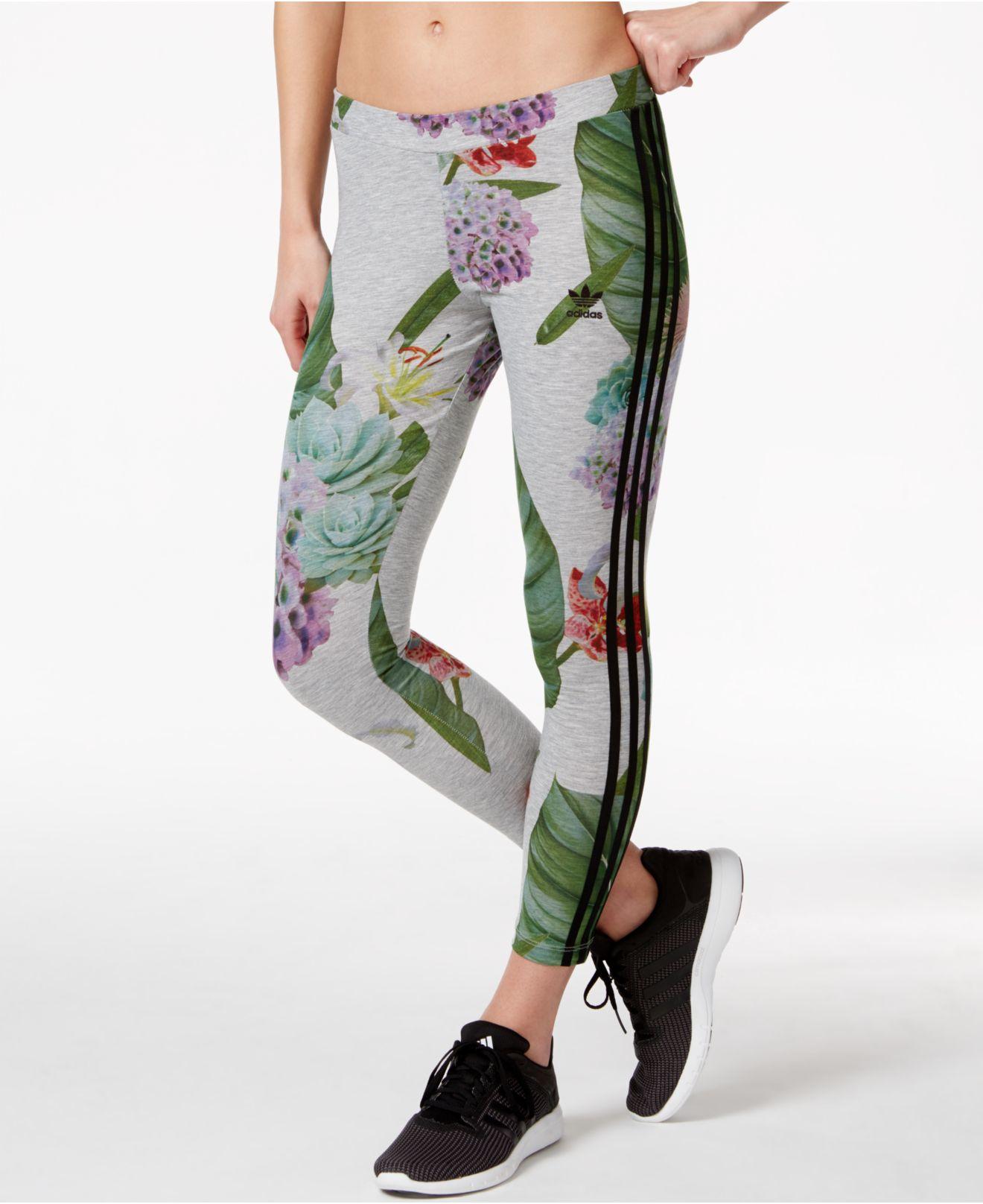 Adidas originals Originals Floral-print Leggings in ...