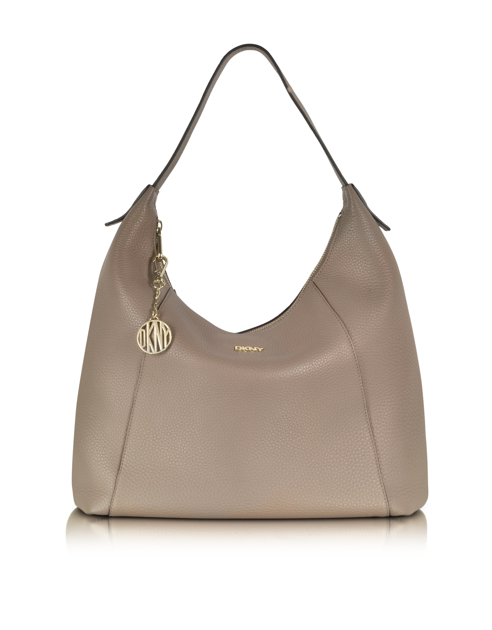 Lyst - DKNY Tribeca Leather Large Hobo Bag in Natural 155c4dfee6493