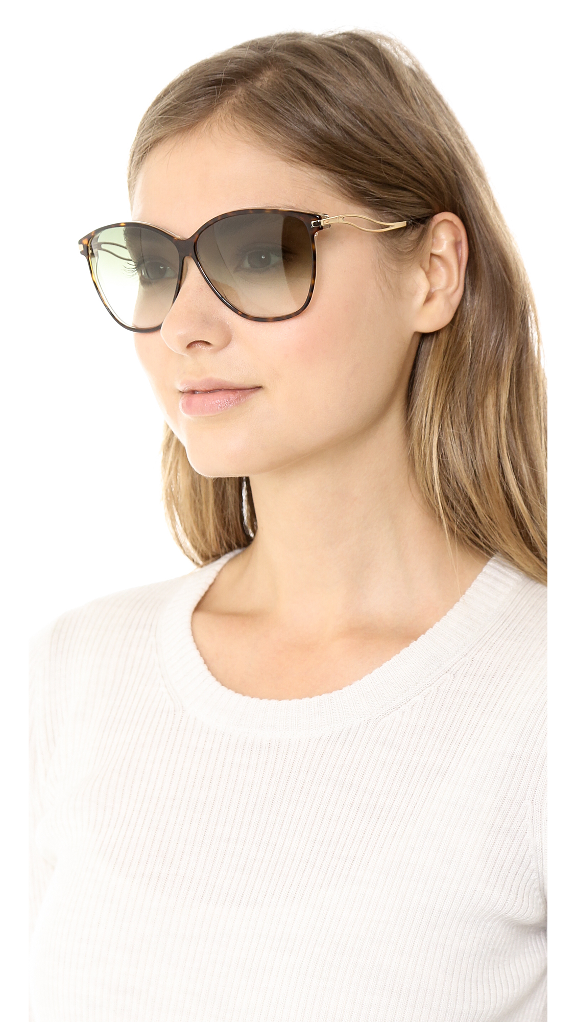 66df4beb94 Lyst - Victoria Beckham Vienna Sunglasses Taupe in Brown