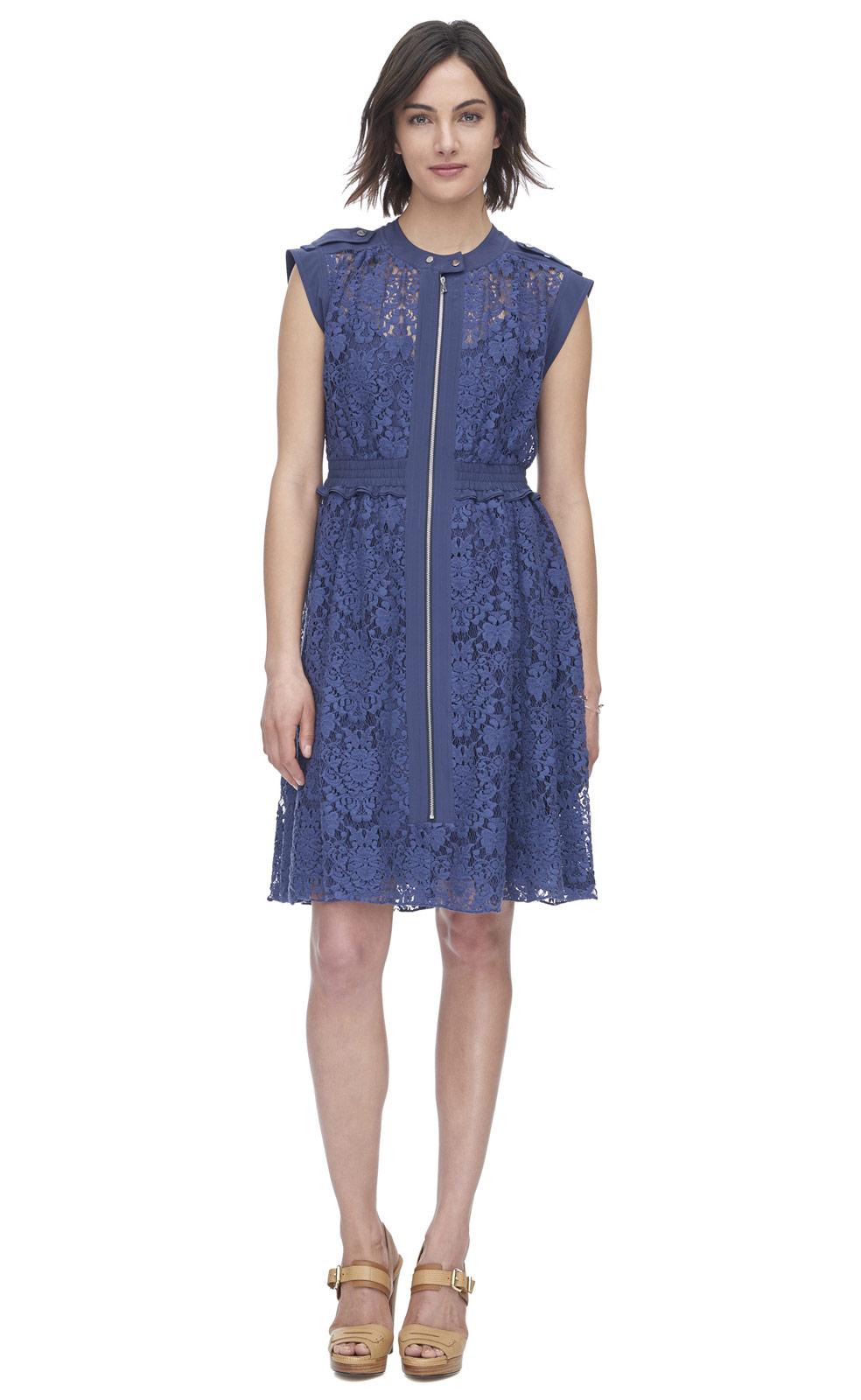 Rebecca taylor Floral Lace Dress - Lyst