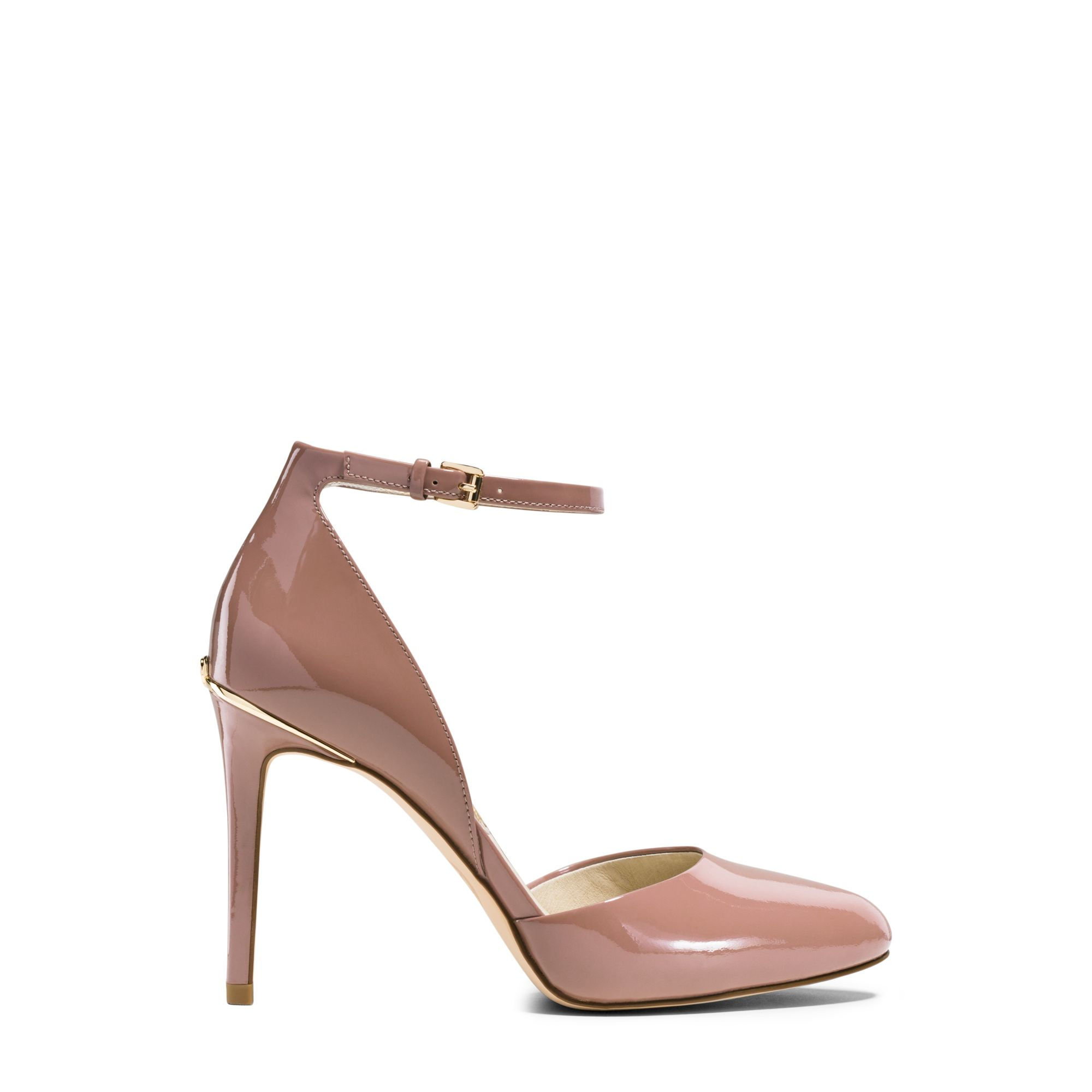michael kors georgia patent leather pump in pink dusty rose lyst. Black Bedroom Furniture Sets. Home Design Ideas