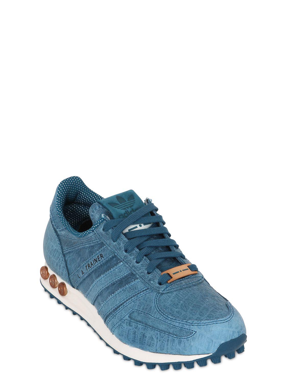 adidas la trainer blue leather. Black Bedroom Furniture Sets. Home Design Ideas