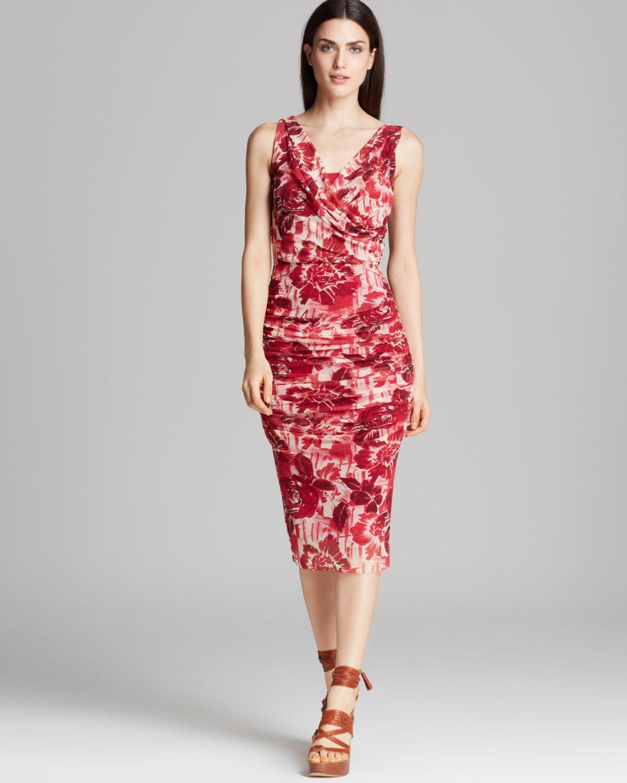 9f8d0917819 Jean Paul Gaultier Dress Fuzzi Ruched Floral Print - Lyst