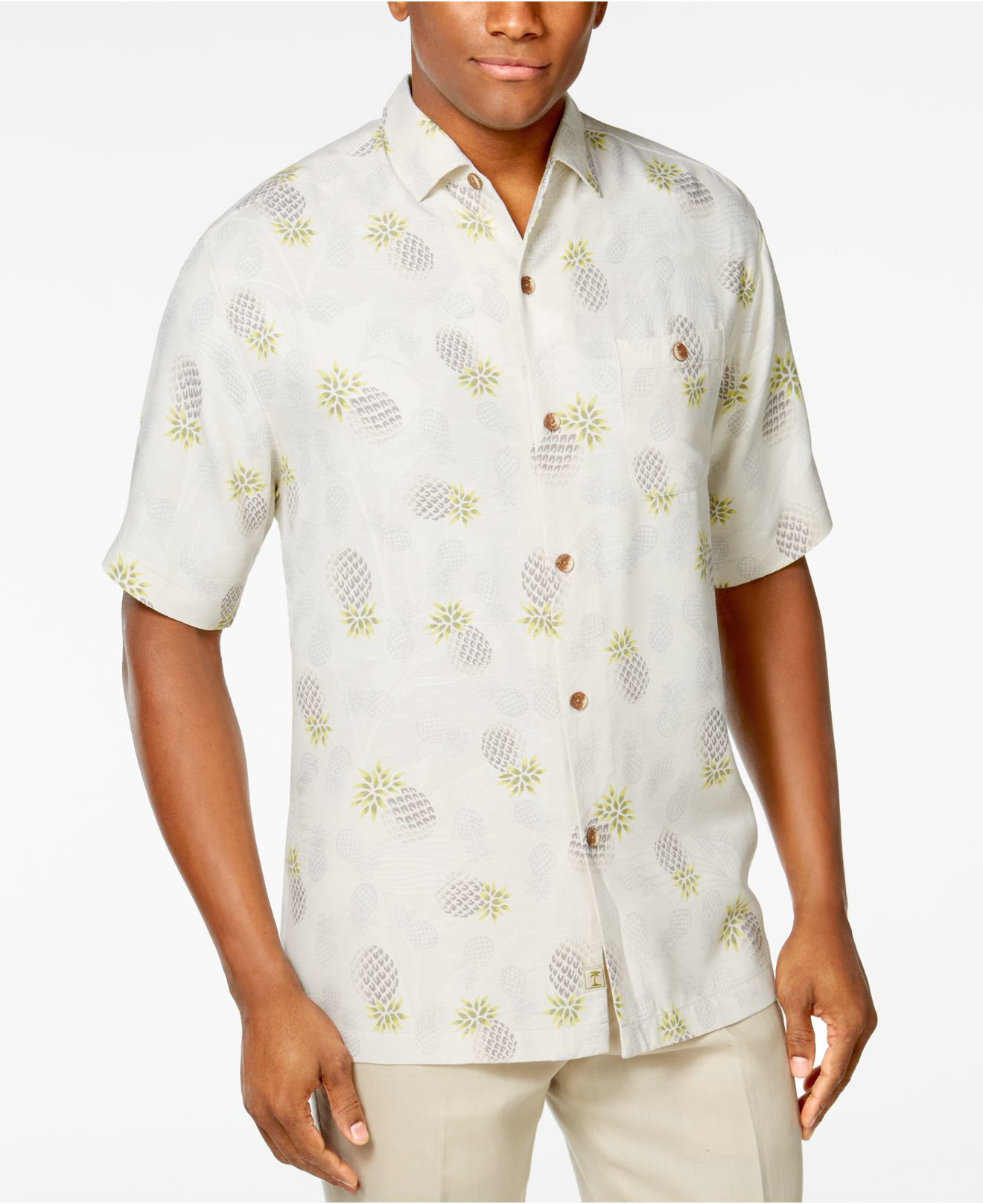 Tommy bahama men 39 s pineapple hideaway short sleeve shirt for Where to buy tommy bahama shirts
