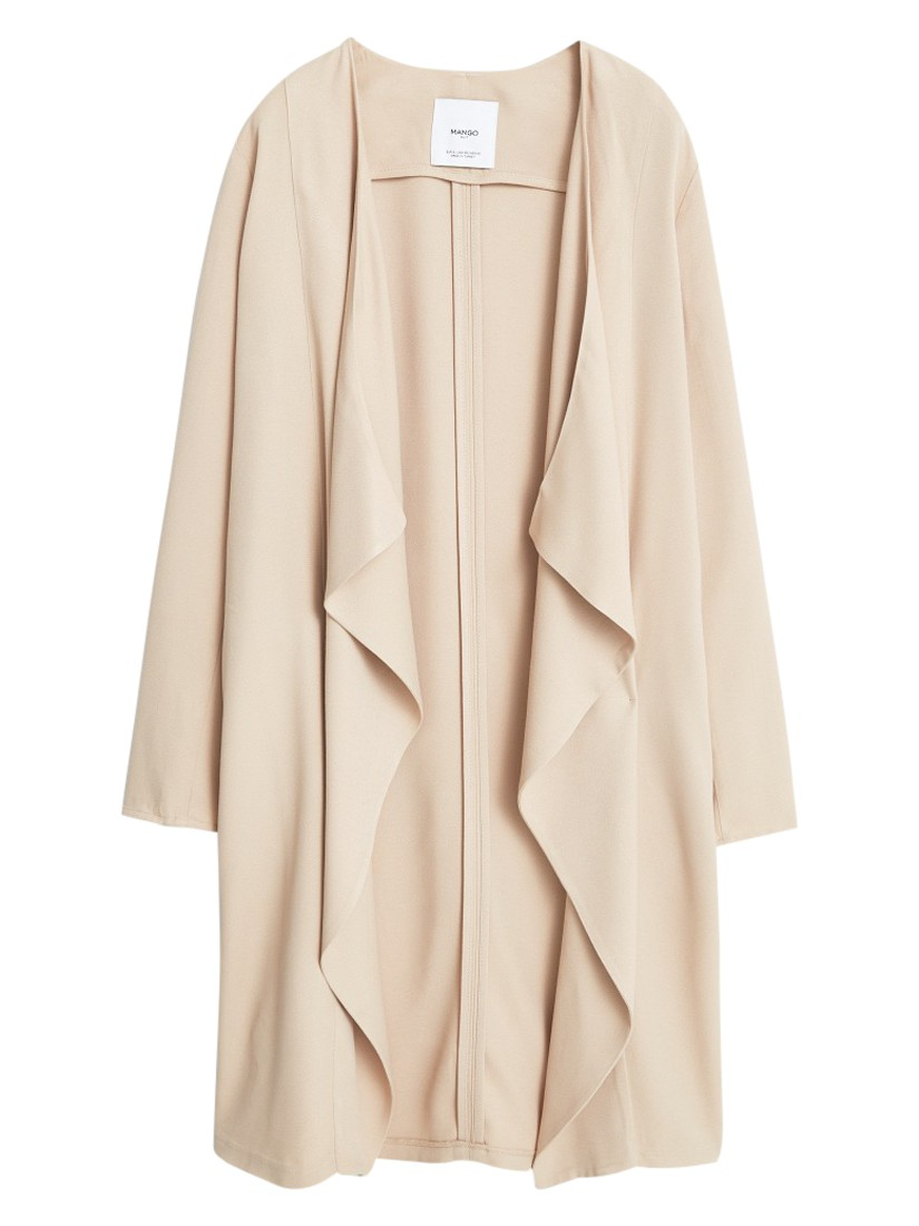 Lyst Mango Waterfall Jacket In Natural