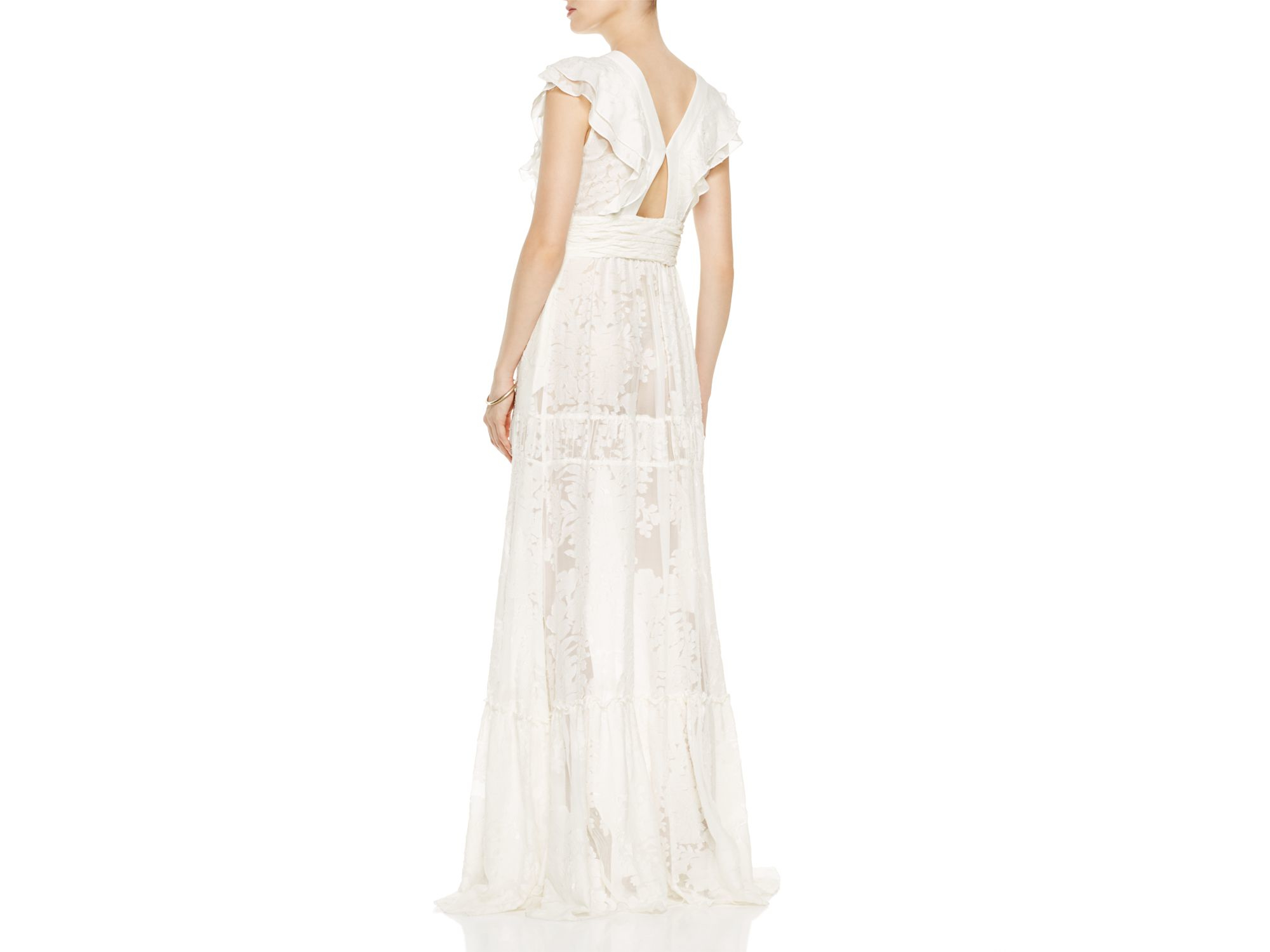 b13fdc22 Rachel Zoe Rory Floral Fil Coupe Gown in White - Lyst