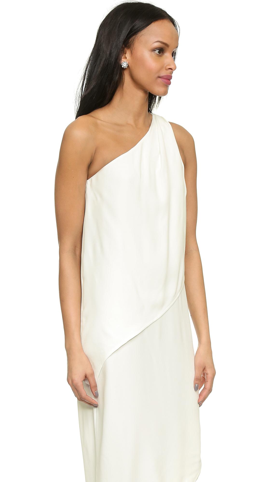Bec &amp bridge Artemis One Shoulder Dress - White in White  Lyst