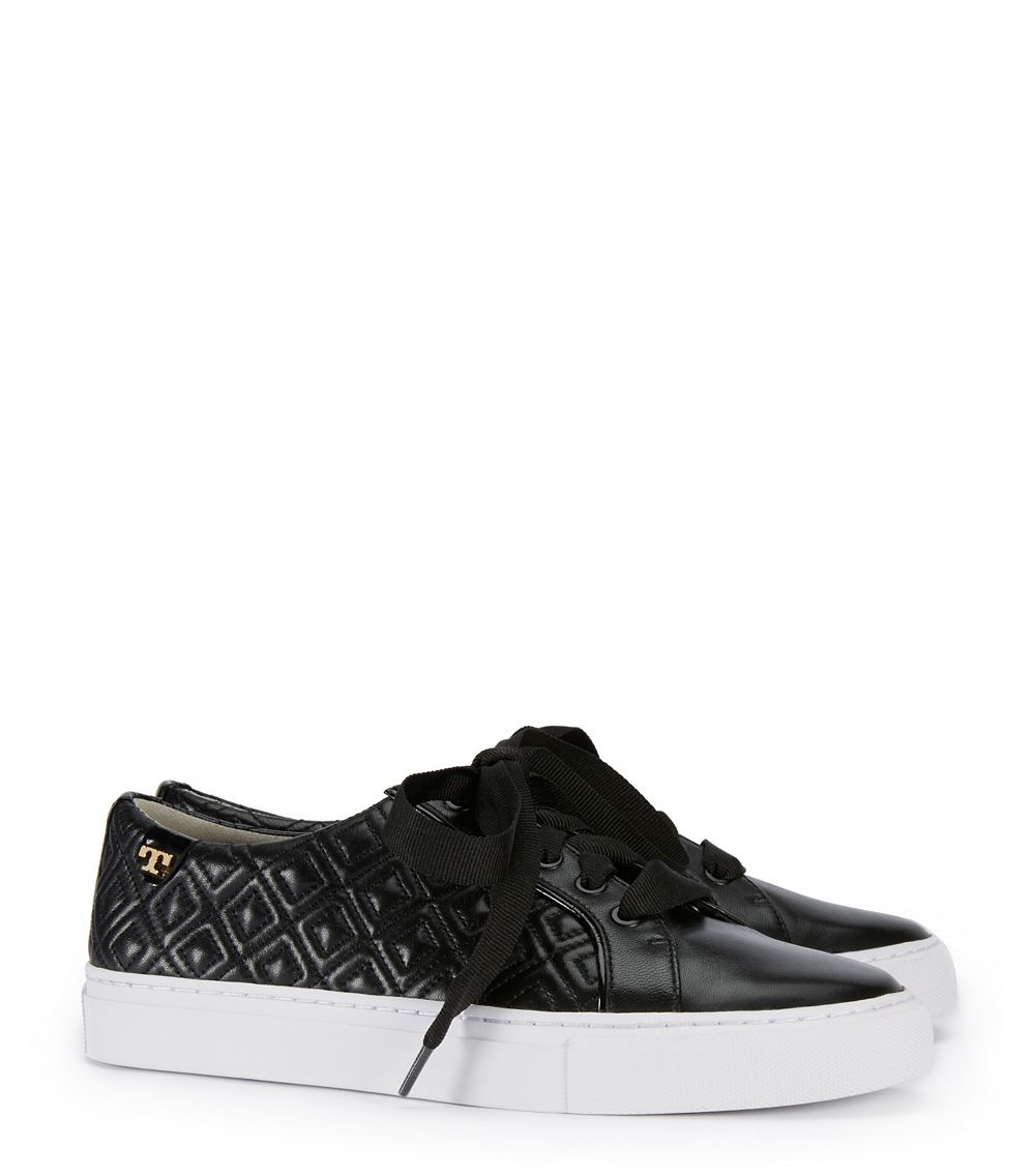 1aa1e6c0c842e Lyst - Tory Burch Marion Quilted Sneaker in Black