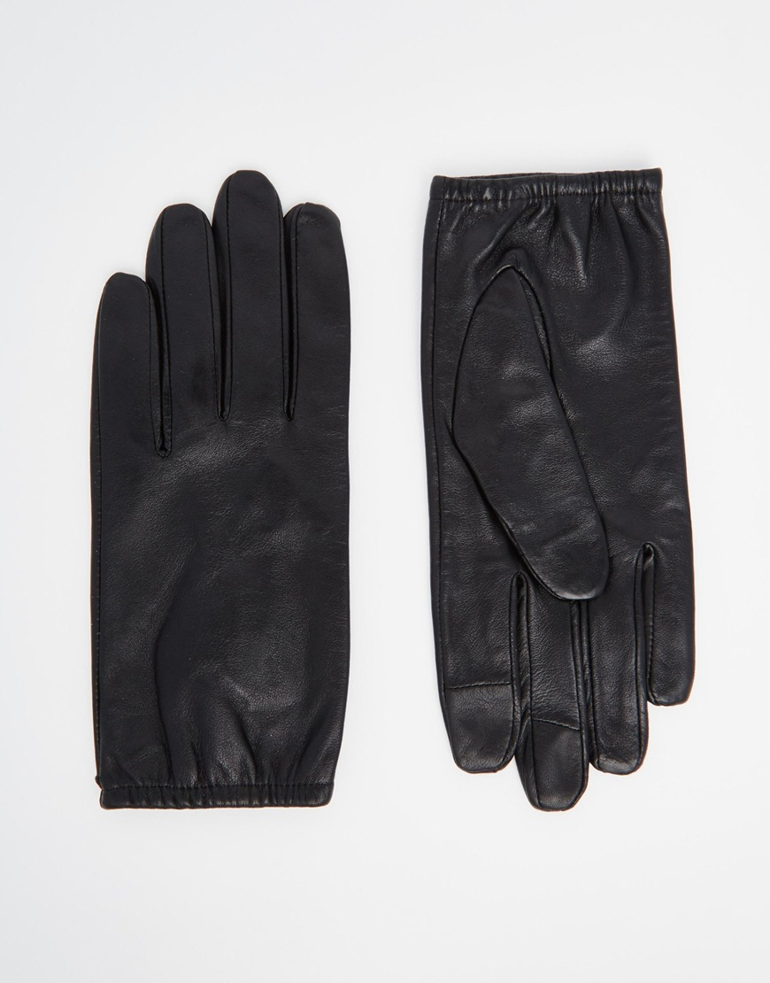 Black leather gloves asos - Gallery Women S Leather Gloves