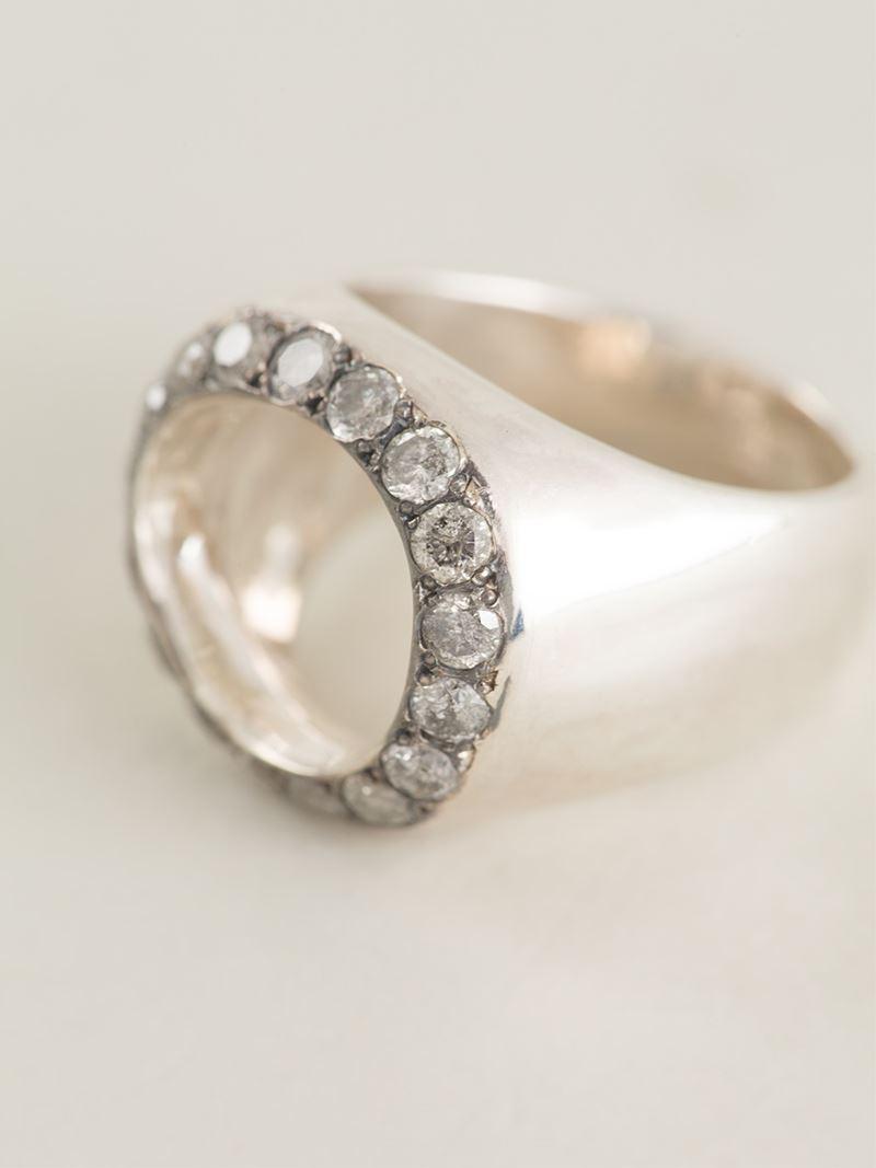 Rosa Maria ametrine and diamond ring - Metallic Hs5WUFq
