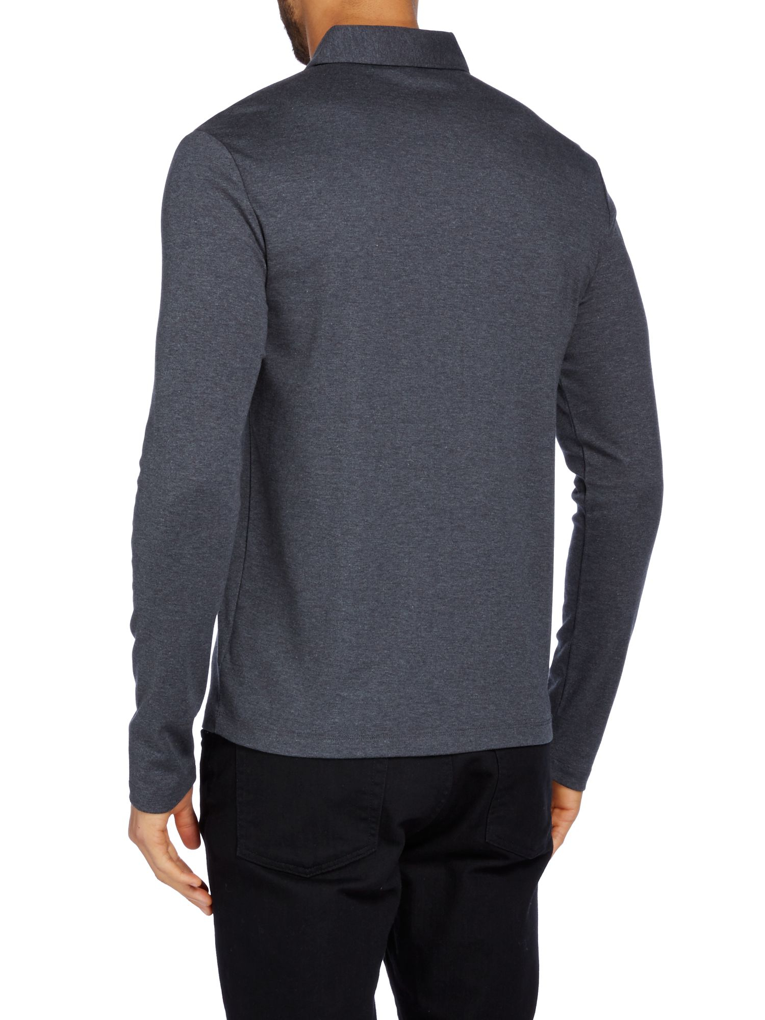 Lyst michael kors slim fit long sleeve polo shirt in for Long sleeve fitted polo shirts