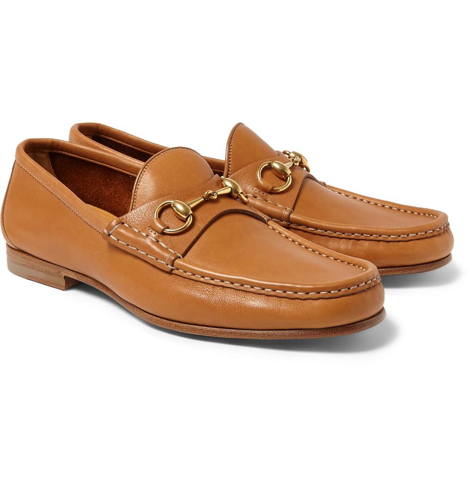 42784202e26 Gucci Horsebit Loafers Brown
