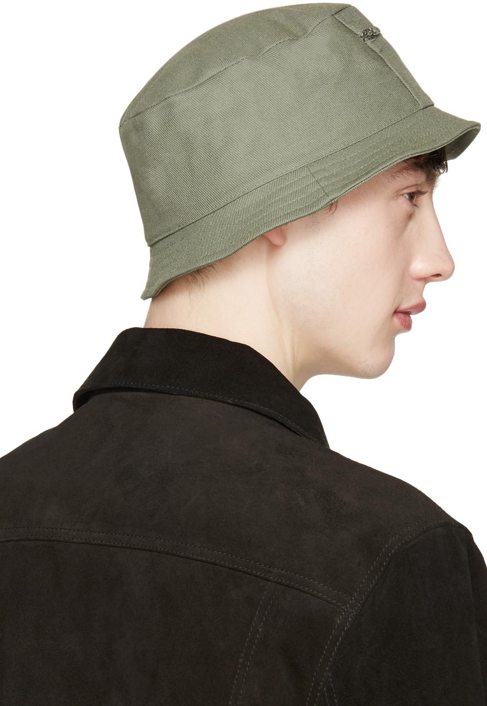23d32191b6557 Maison Kitsuné Khaki Canvas Bucket Hat in Natural for Men - Lyst