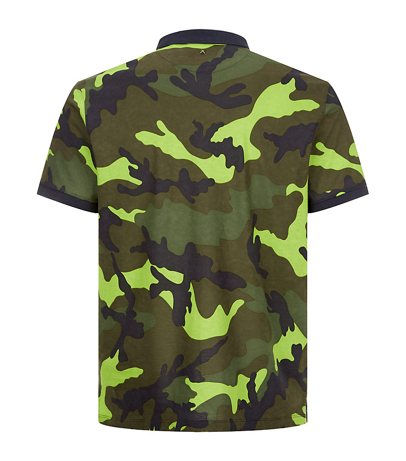 Valentino colour pop camouflage polo shirt in green for for Camo polo shirts for men