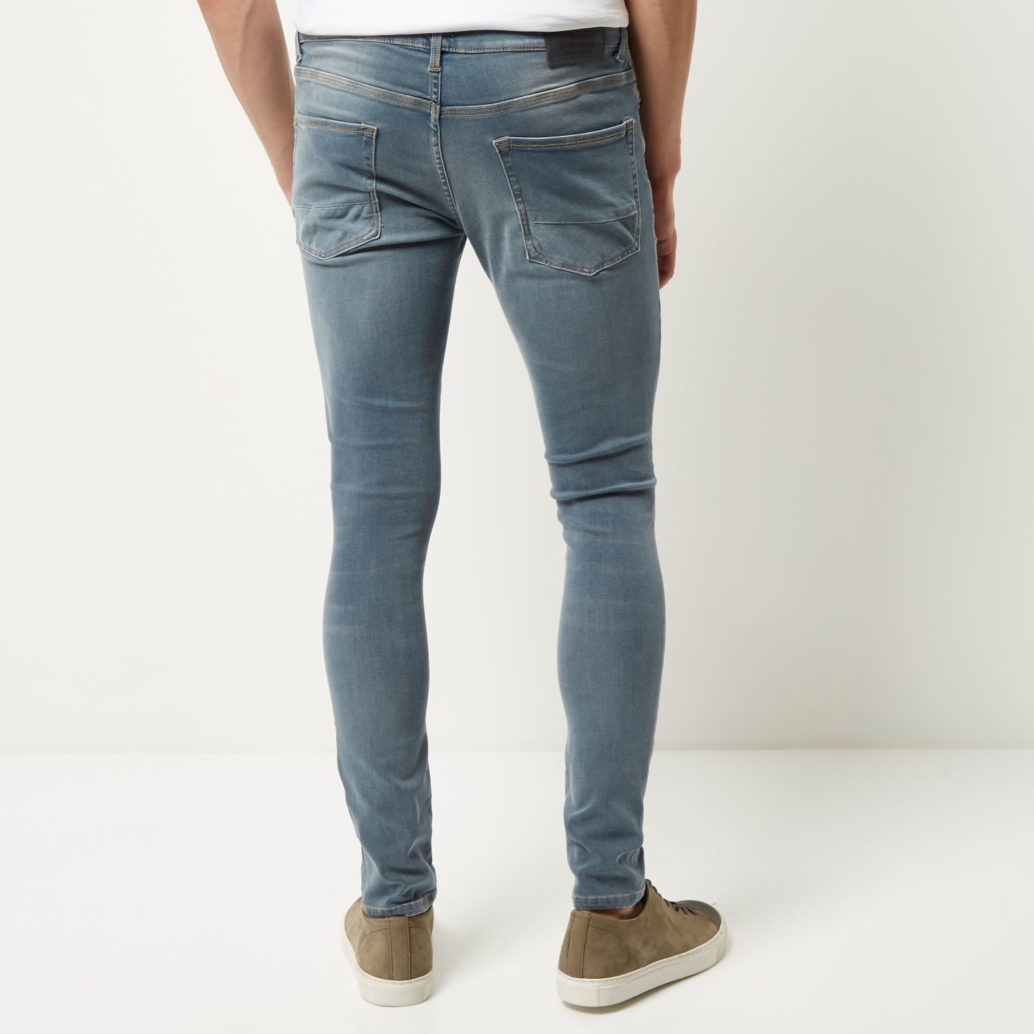 Mens Mid Blue Dylan super skinny jeans River Island Footaction Online Lowest Price Cheap Price Discount Pay With Visa Aaa Quality p9UCB