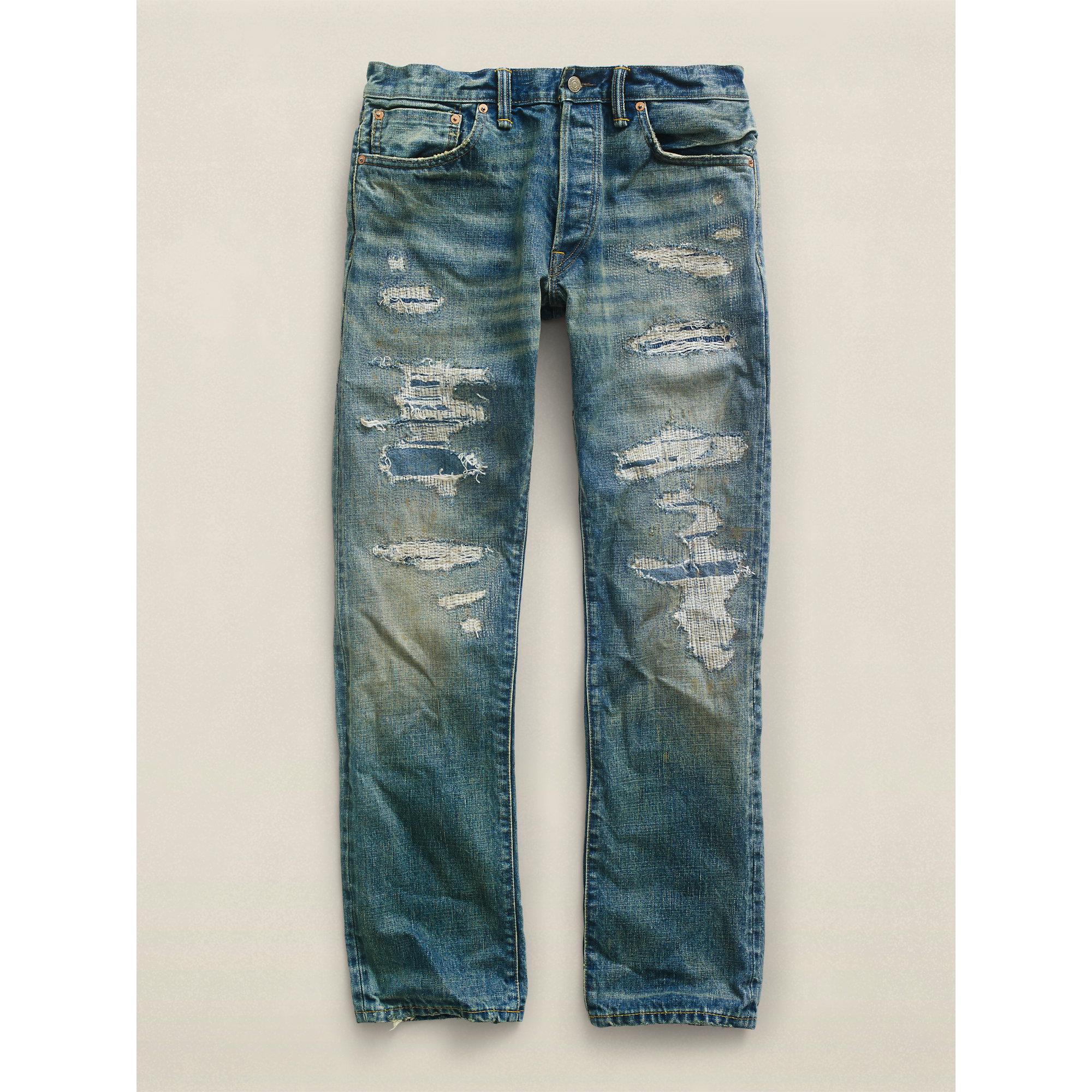 b8bb02c324125 Lyst - RRL Low Straight Bridgewater Jean in Blue for Men