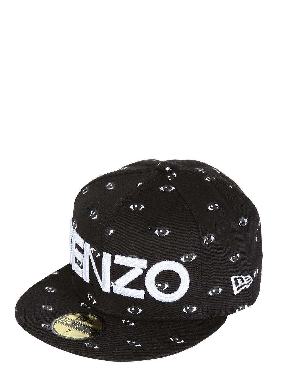 Lyst - KENZO Eye Printed Baseball Hat in Black for Men 744e73c2258c