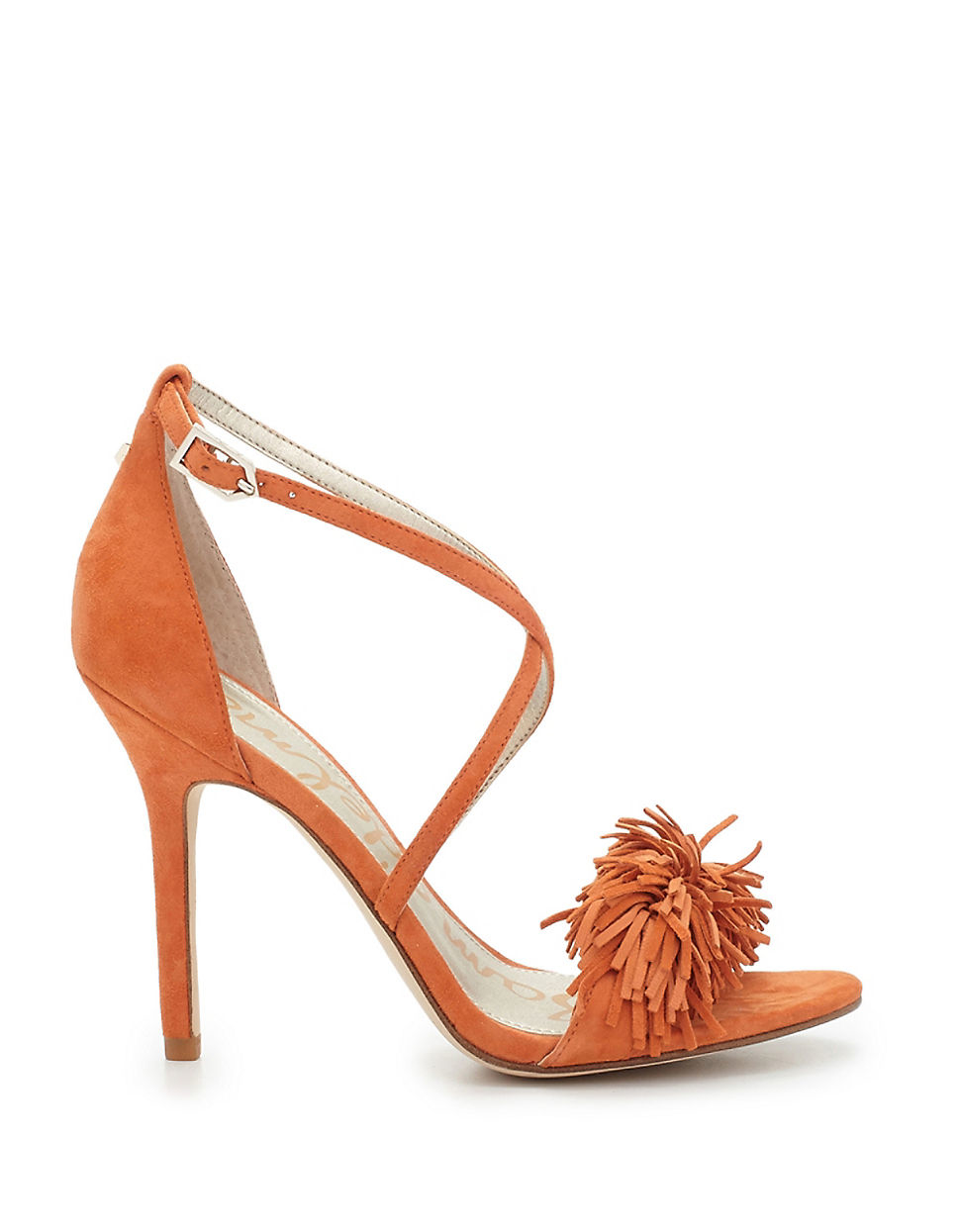 083a5c6b7 Sam Edelman Aisha Suede Sandals in Orange - Lyst