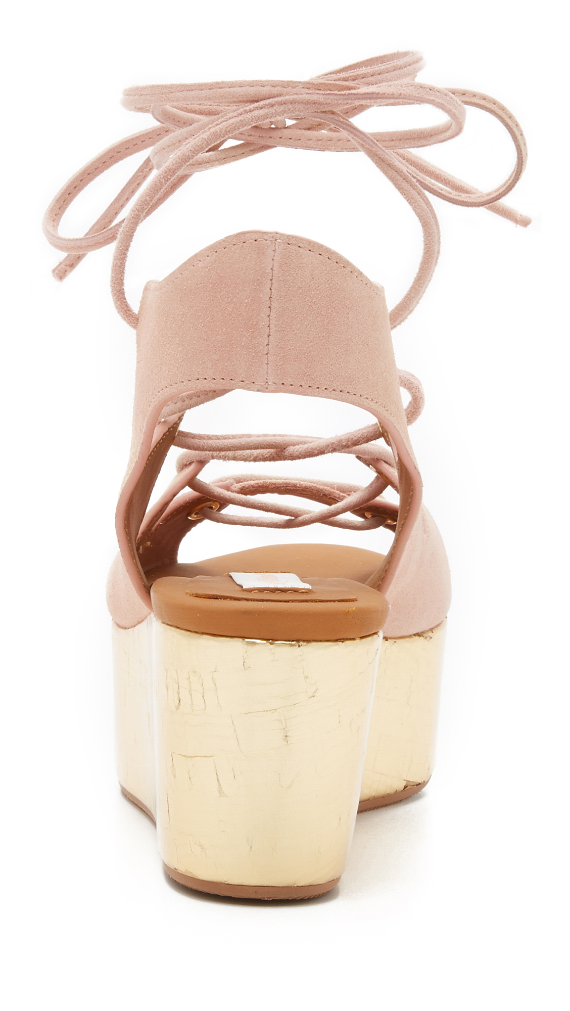 8a48d858fe8 Lyst - See By Chloé Liana Platform Lace Up Sandals in Natural