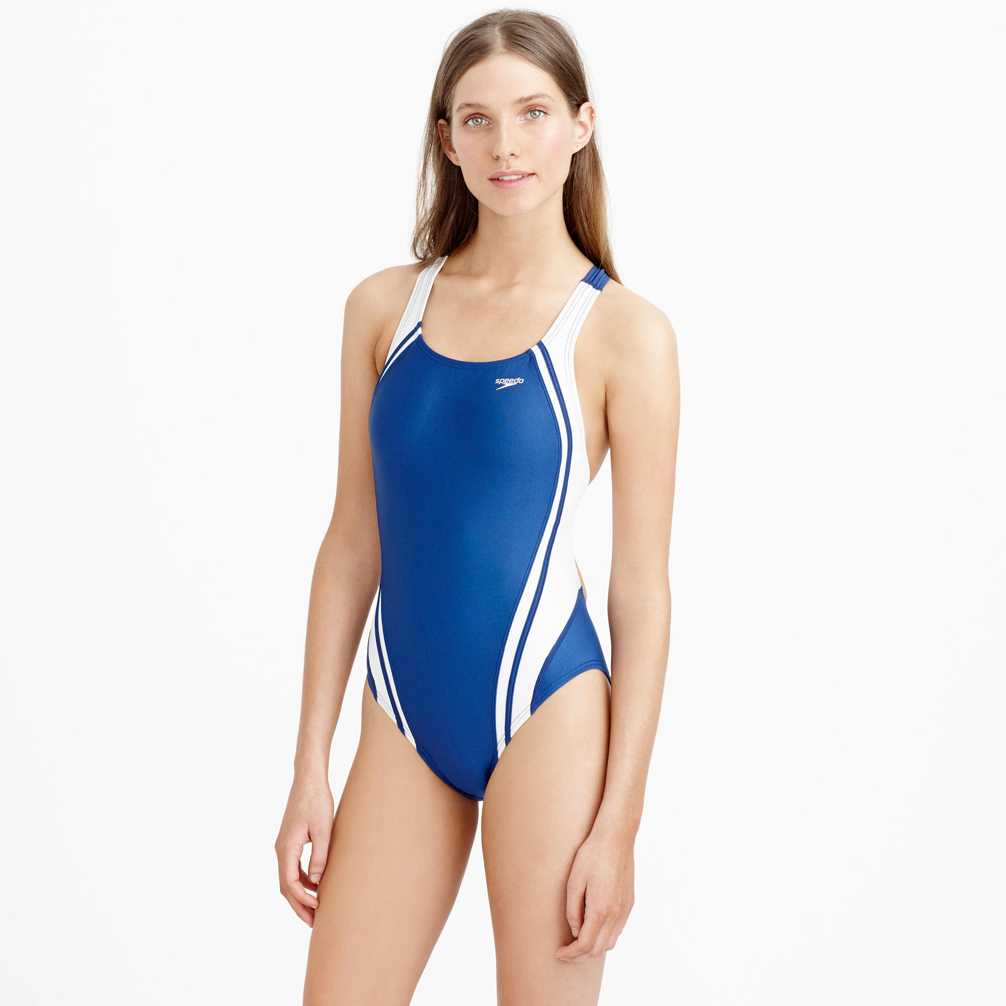 fa426c810b J.Crew Speedo Quantum Splice One-piece Swimsuit in Blue - Lyst