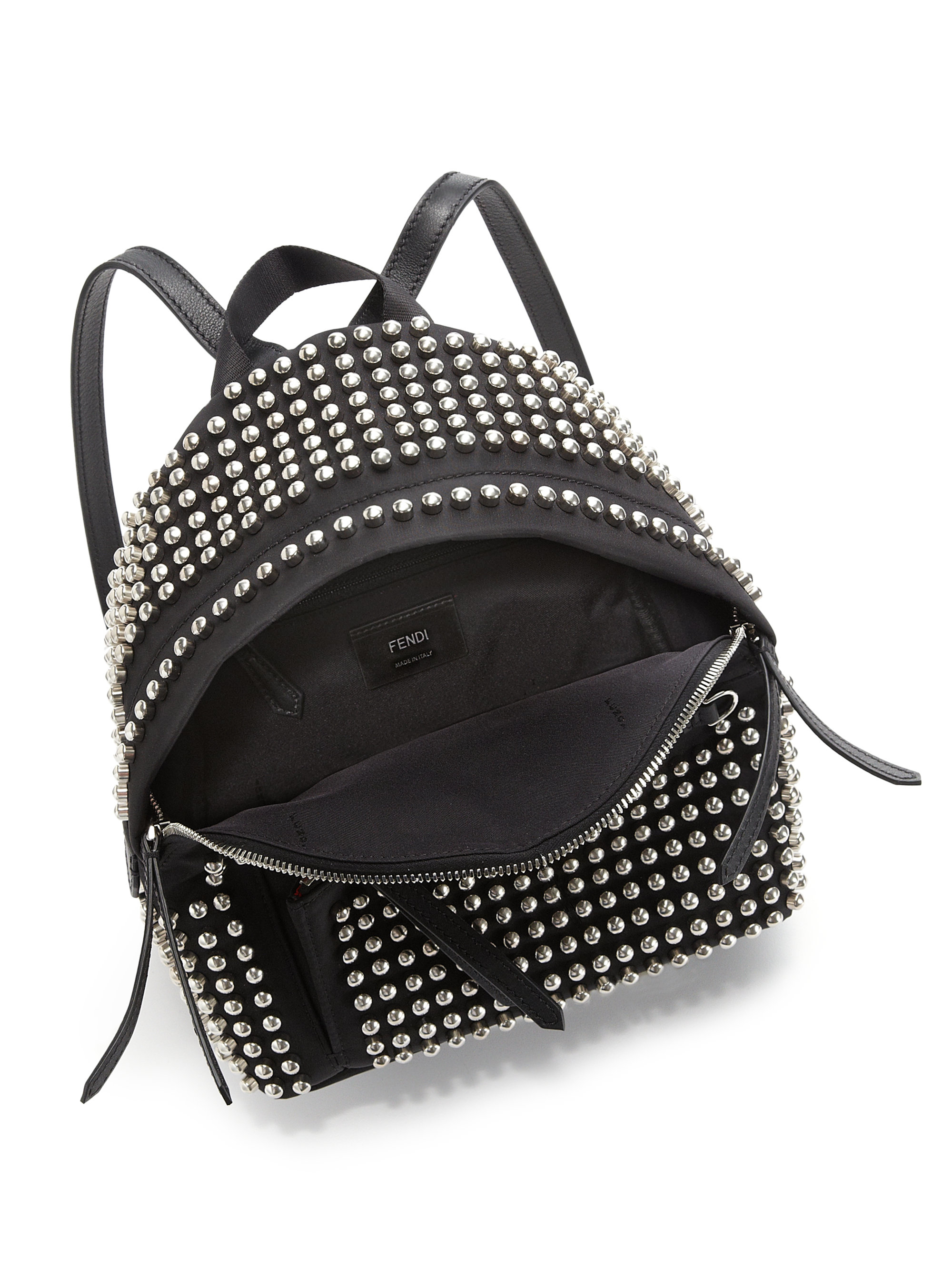 Fendi Studded Bag Bugs Backpack In Black Lyst