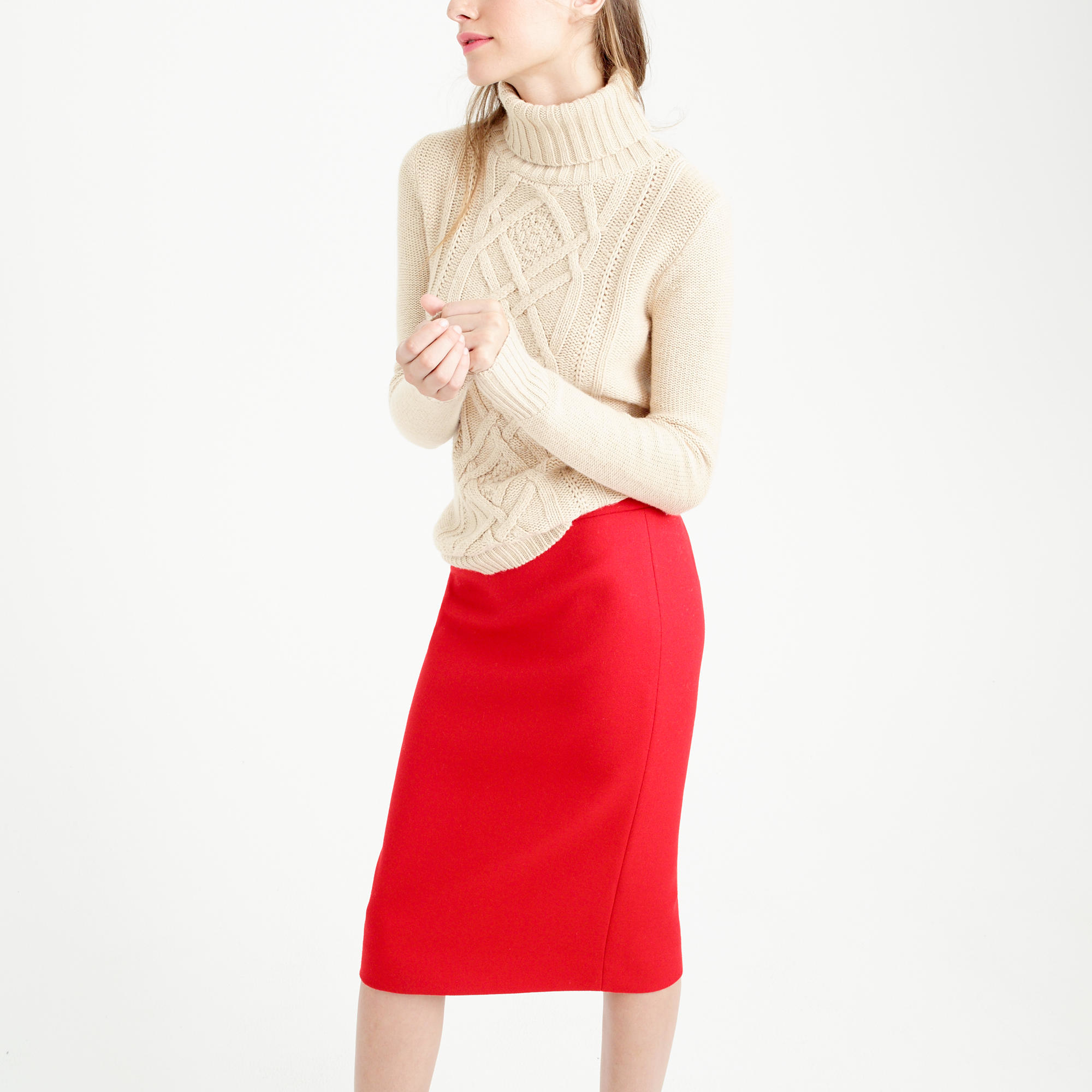 j crew no 2 pencil skirt in serge wool