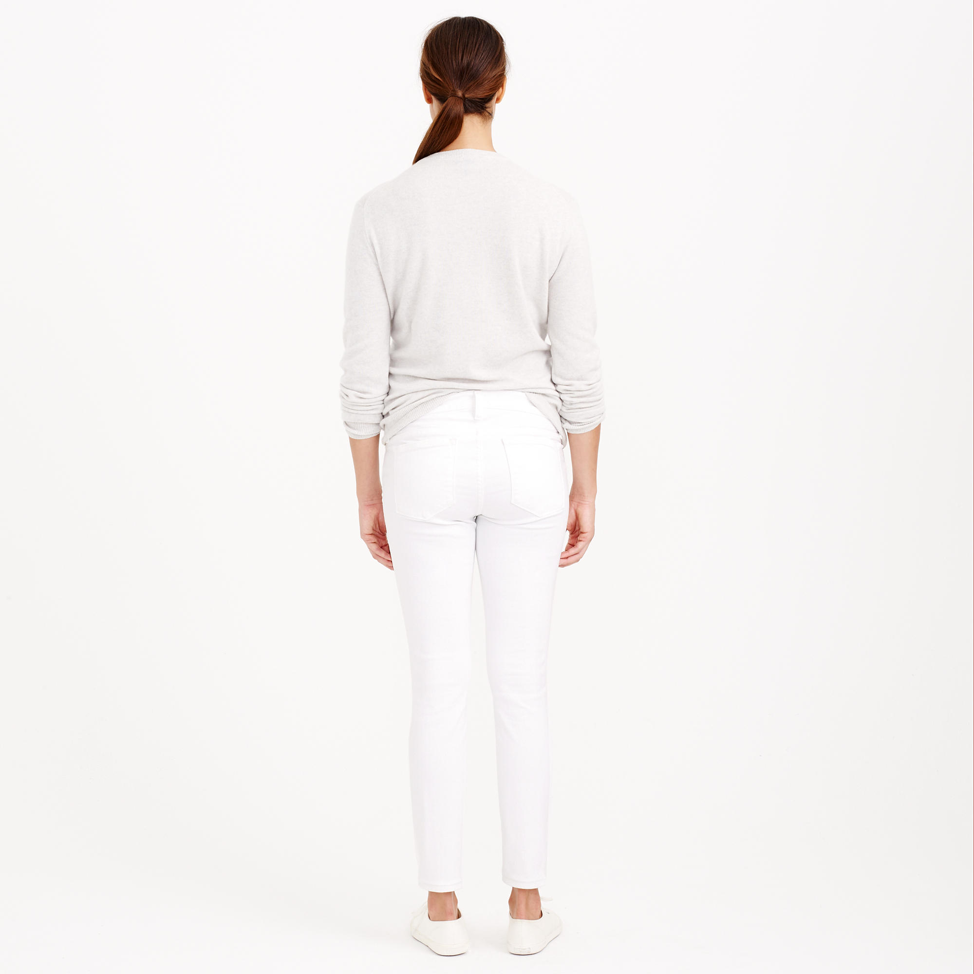 c775ffc3044a1 J.Crew Tall Stretch Maternity Toothpick Jean In Chalk in White - Lyst