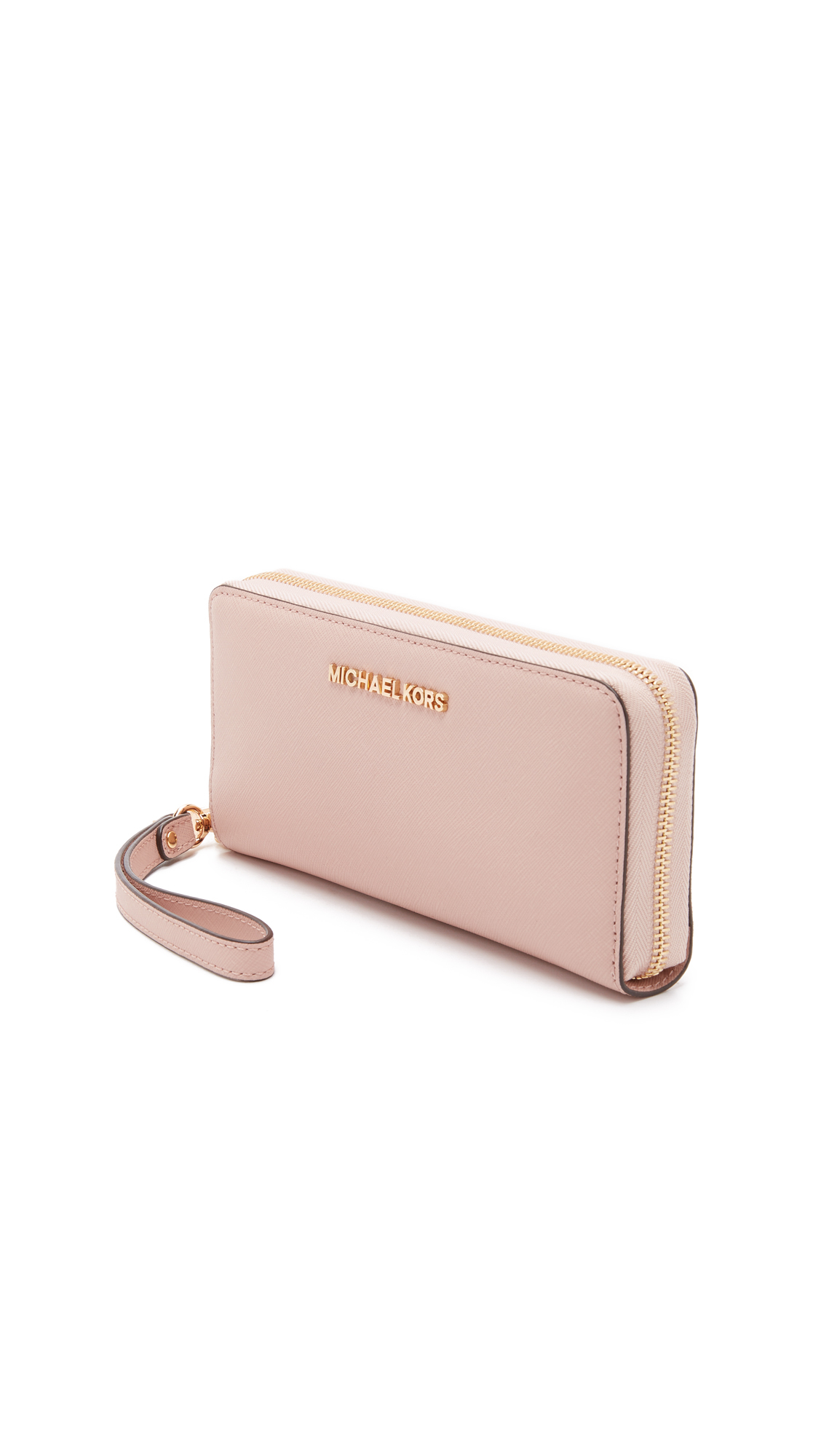 6b89cef136f7d Lyst - MICHAEL Michael Kors Jet Set Travel Continental Wallet - Ballet in  Pink